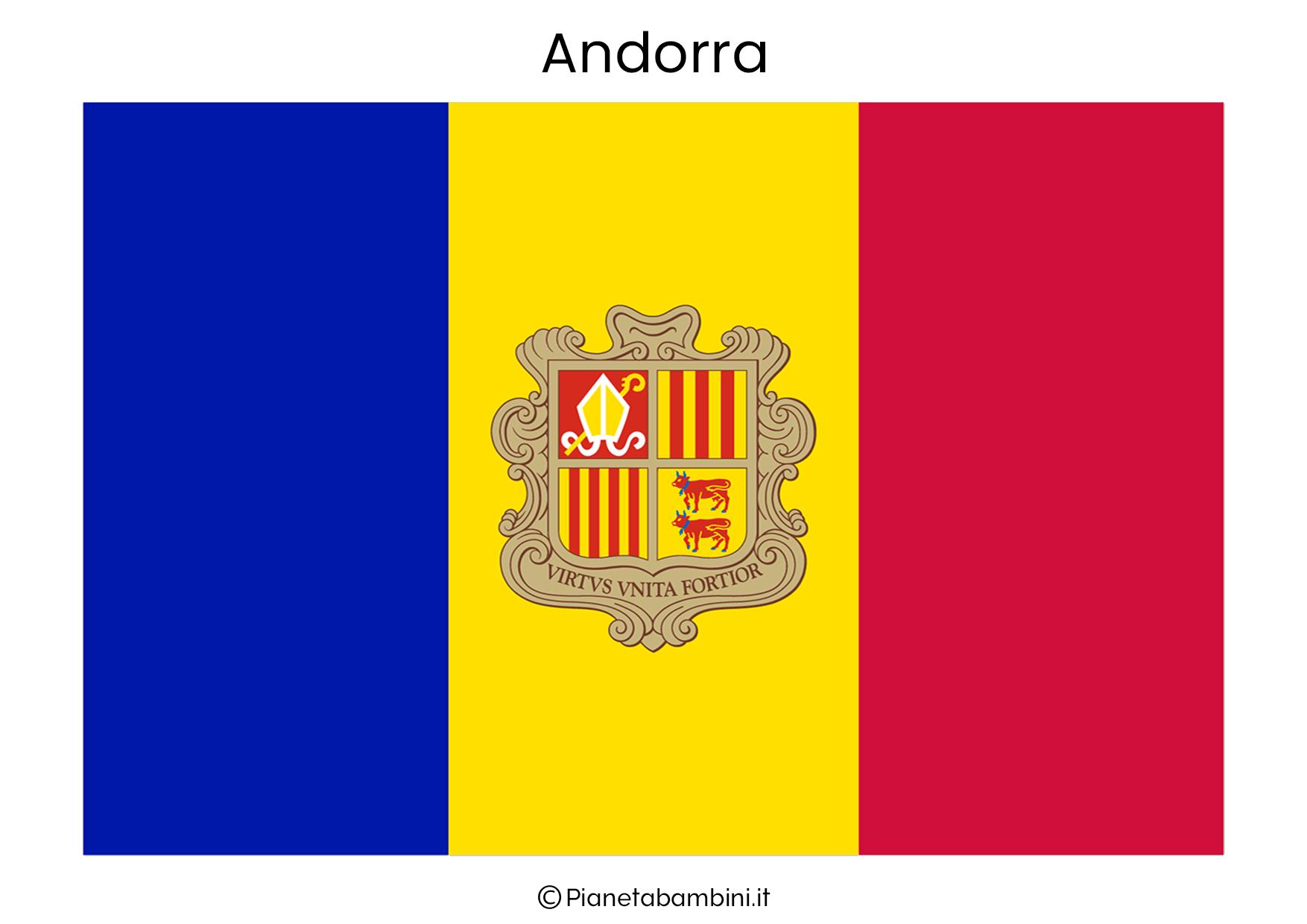 Bandiera dell'Andorra da stampare