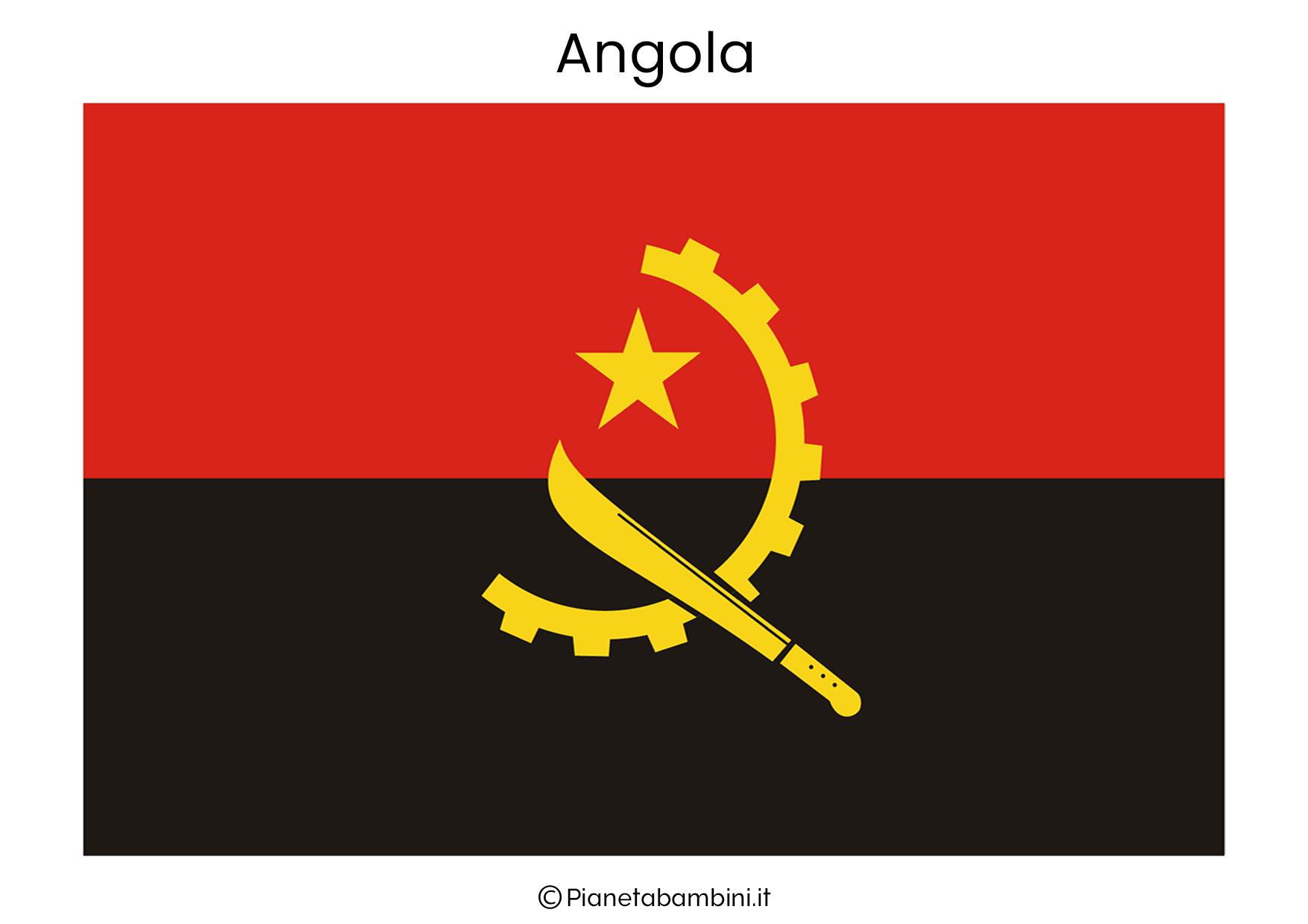 Bandiera dell'Angola da stampare