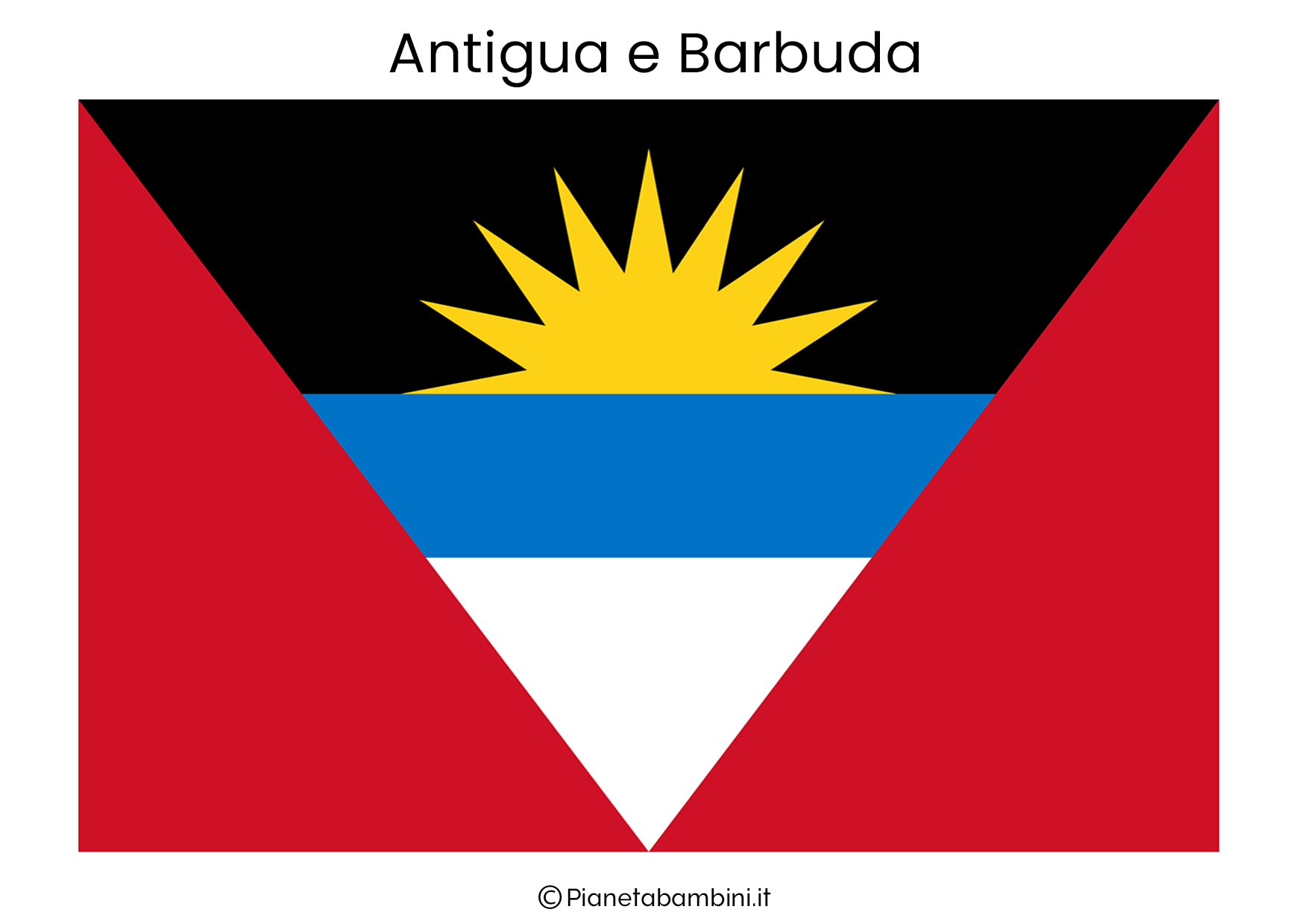 Bandiera di Antigua e Barbuda da stampare