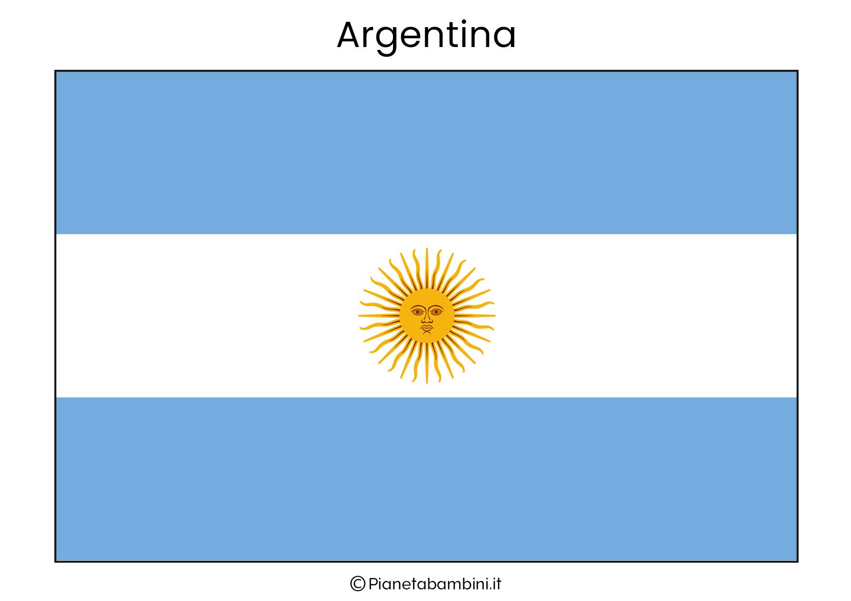 Bandiera dell'Argentina da stampare