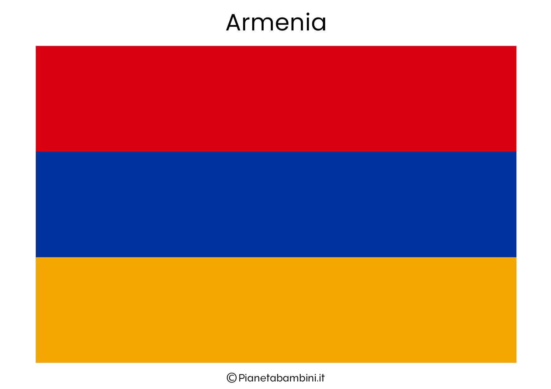 Bandiera dell'Armenia da stampare