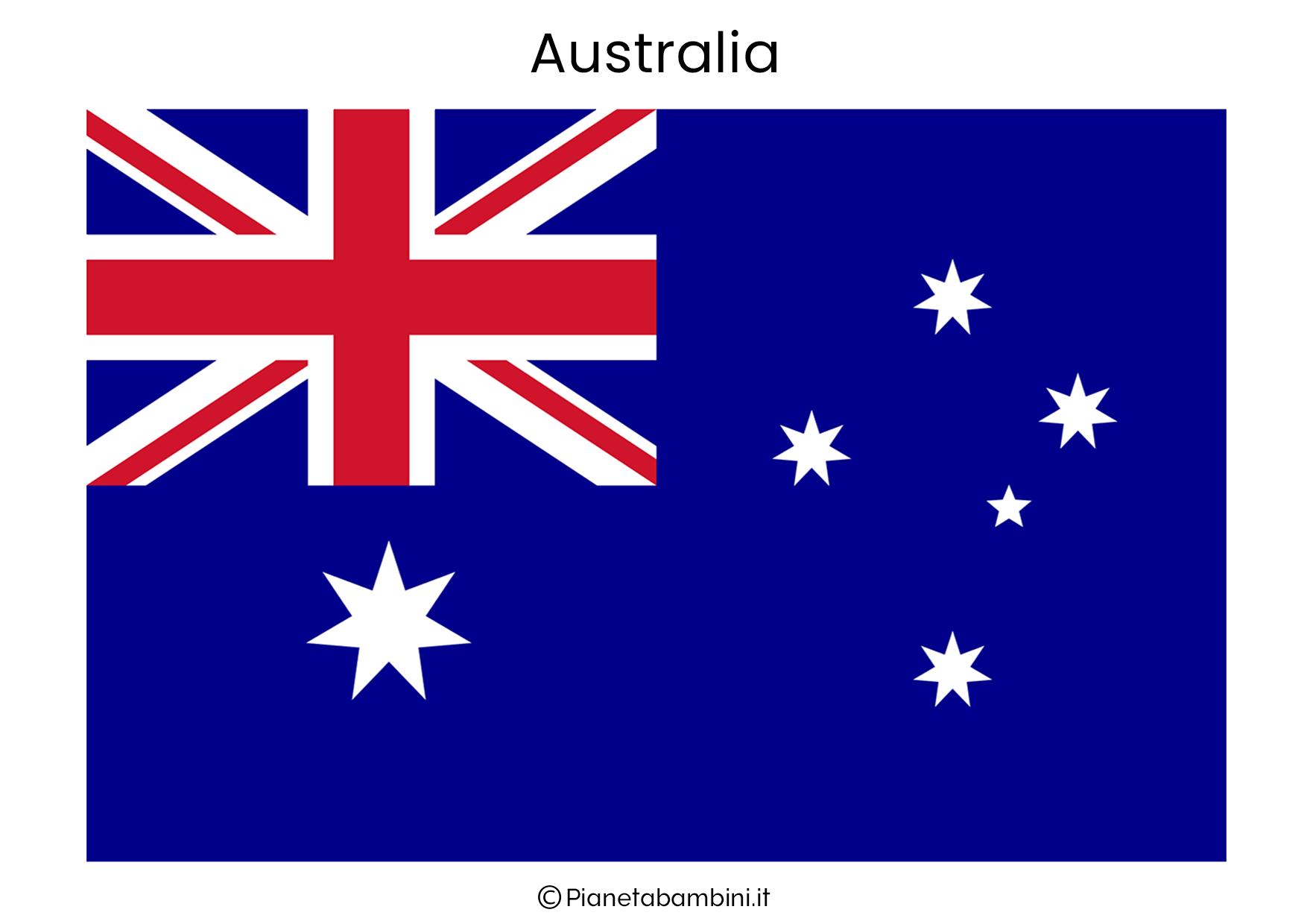 Bandiera dell'Australia da stampare