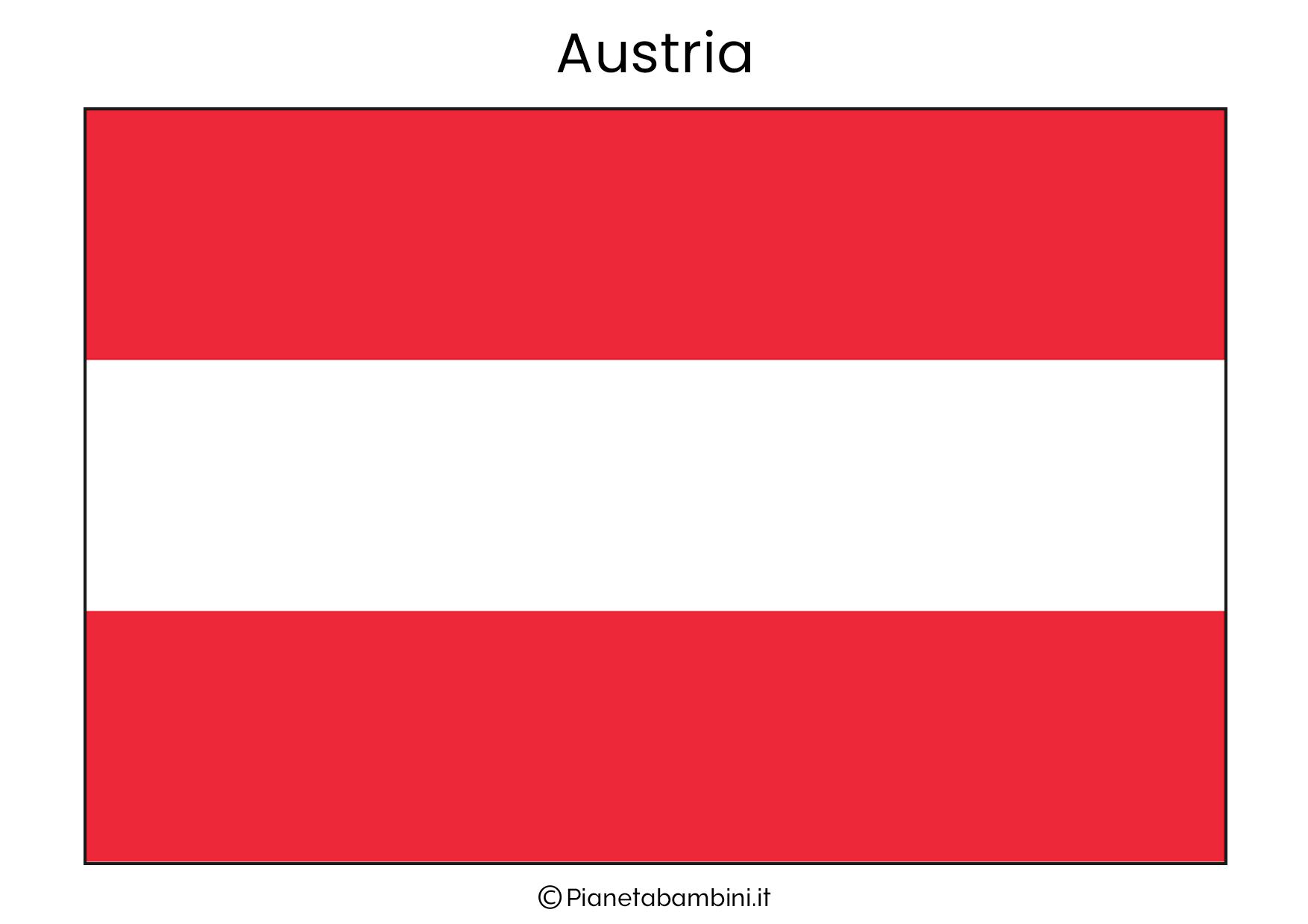 Bandiera dell'Austria da stampare