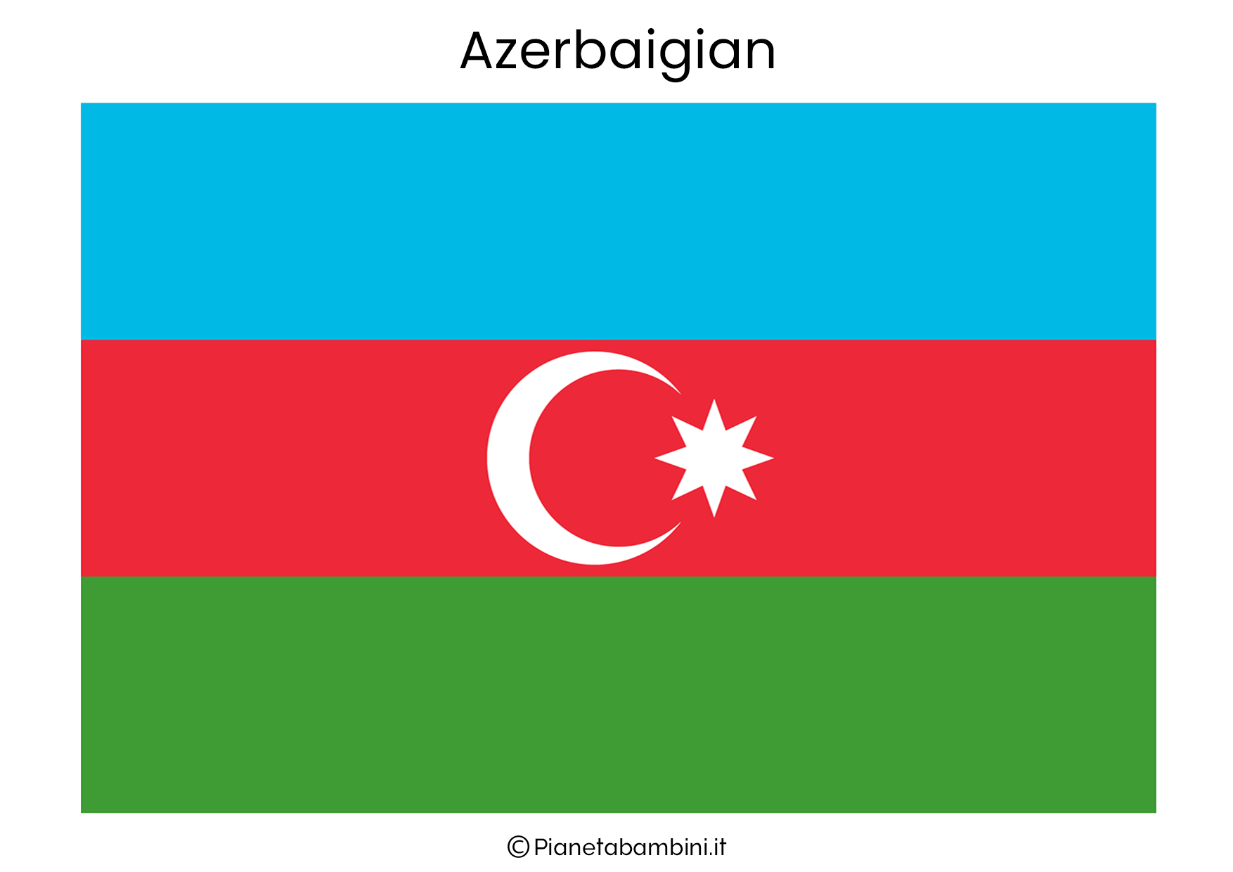Bandiera dell'Azerbaigian da stampare