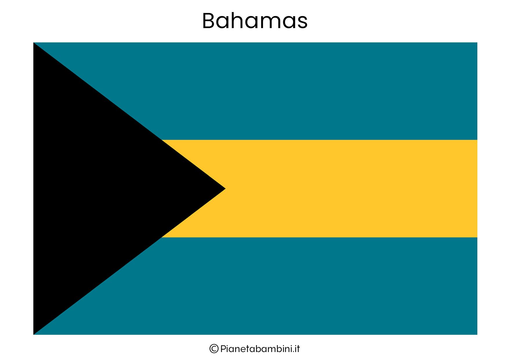 Bandiera delle Bahamas da stampare