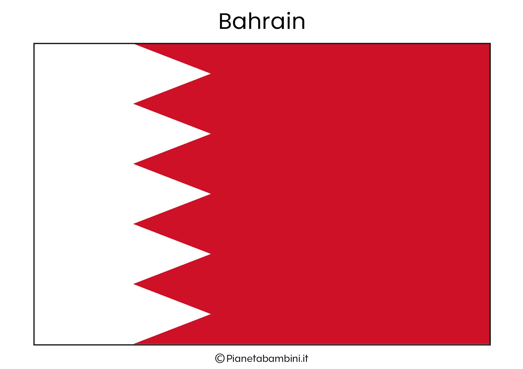 Bandiera del Bahrain da stampare