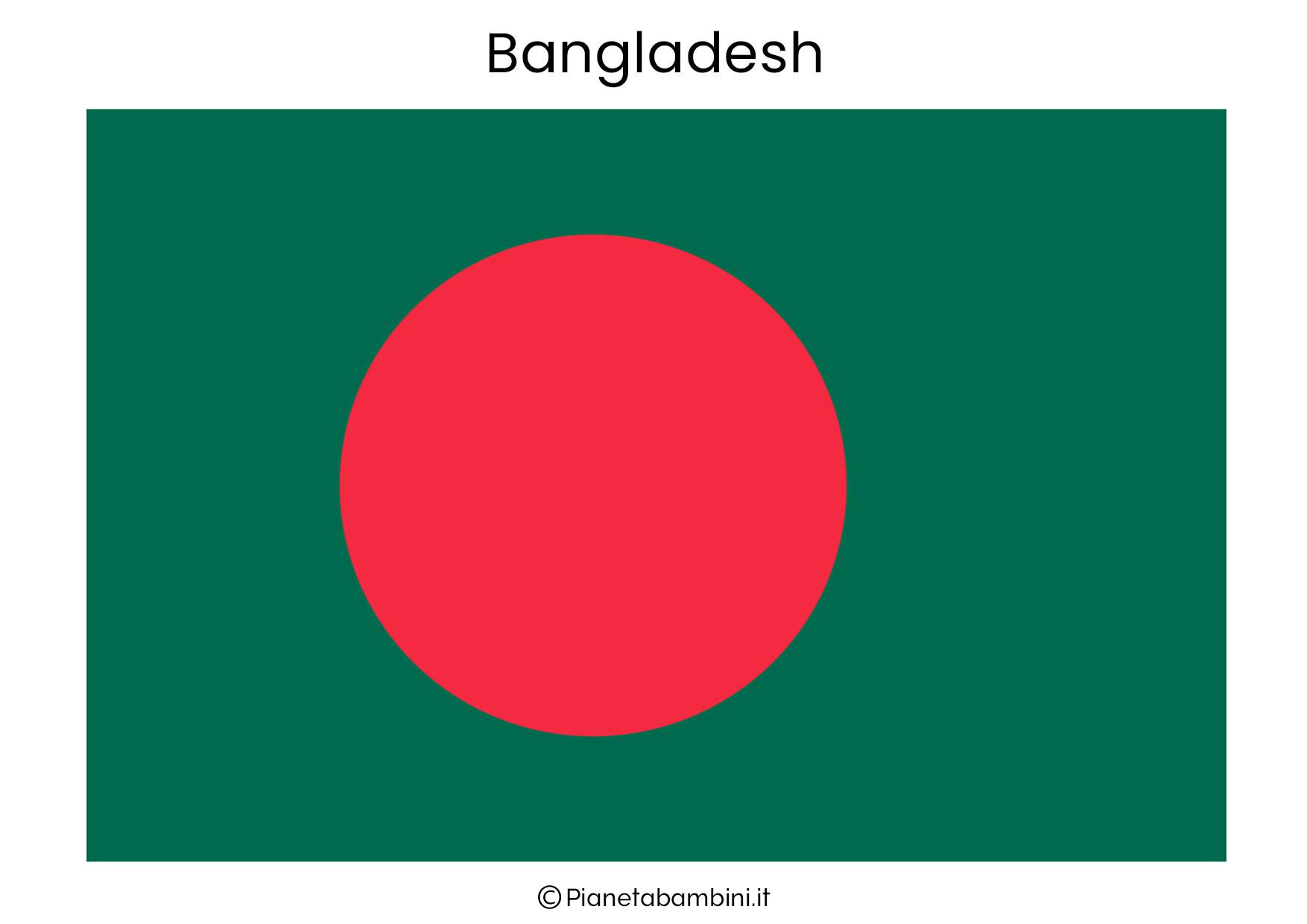 Bandiera del Bangladesh da stampare