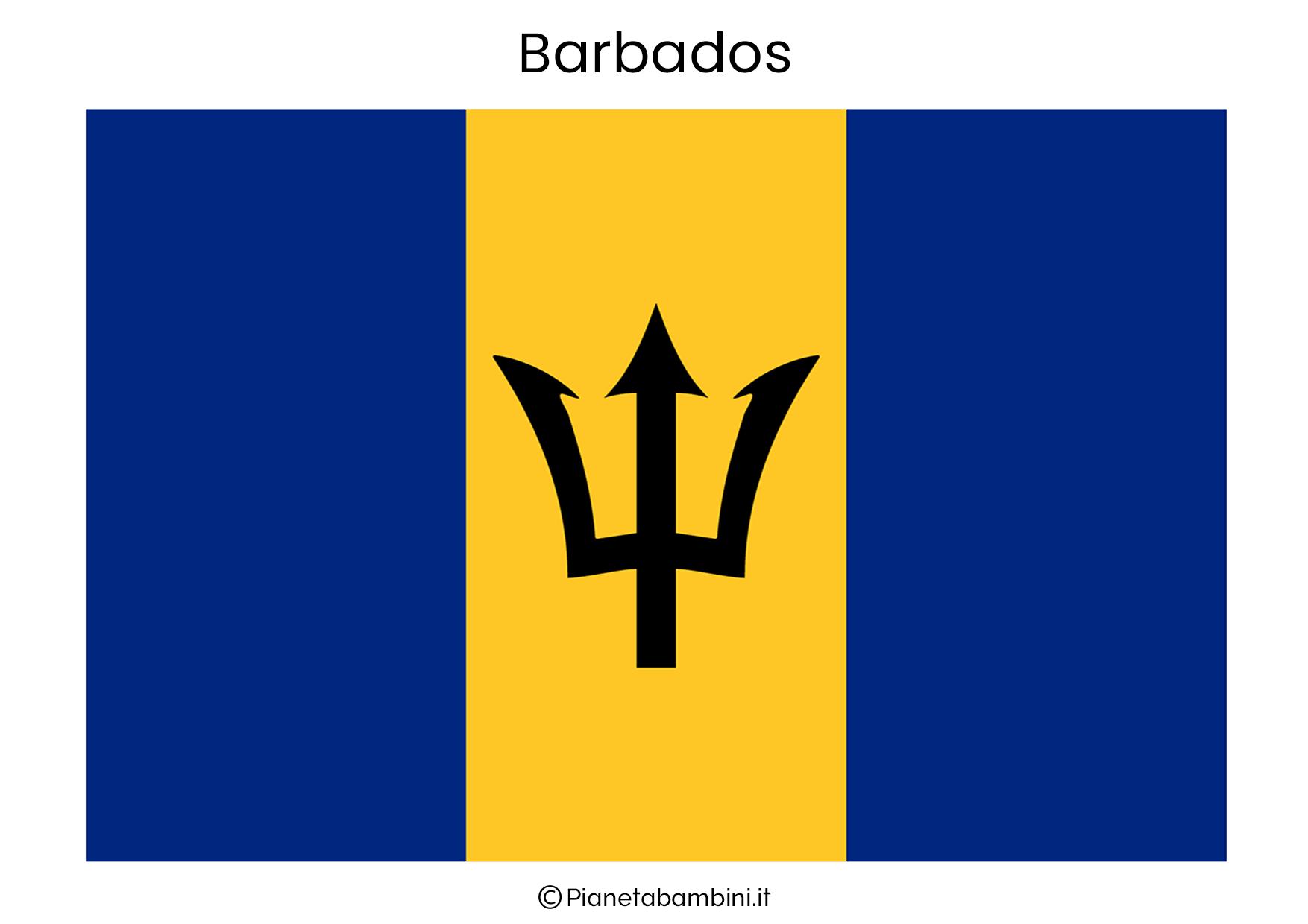 Bandiera delle Barbados da stampare