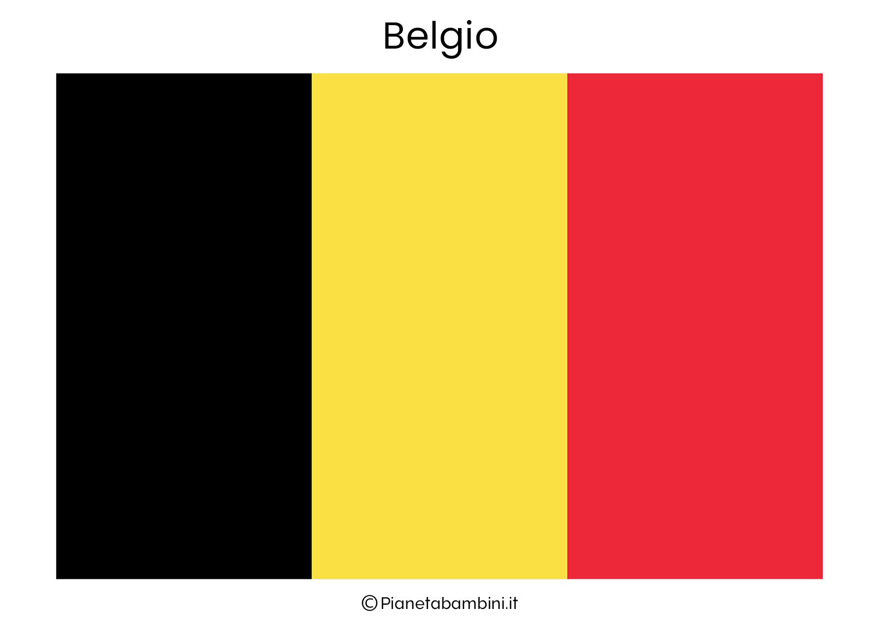Bandiera del Belgio da stampare