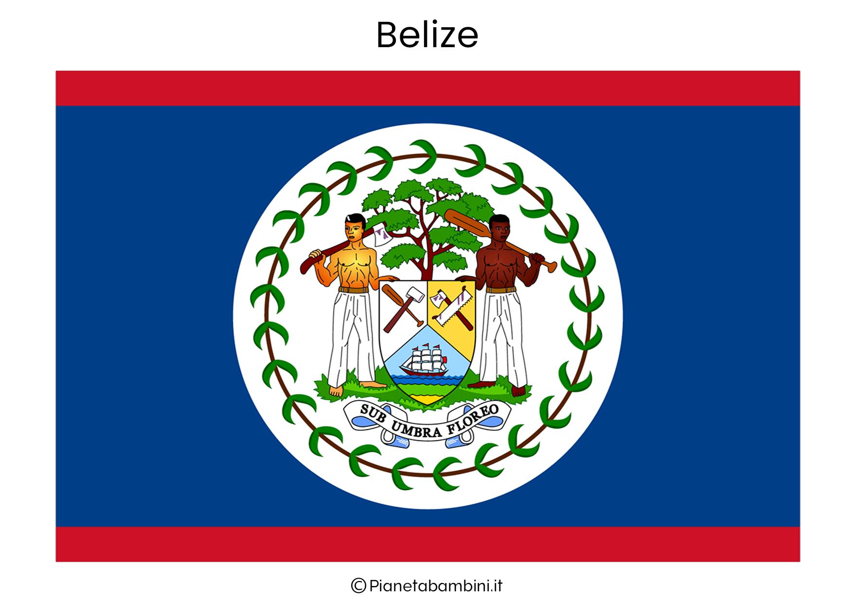 Bandiera di Belizes da stampare