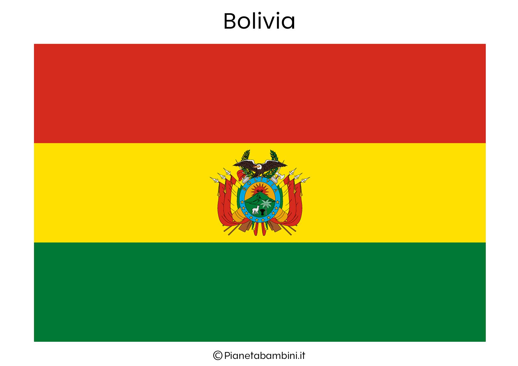 Bandiera della Bolivia da stampare