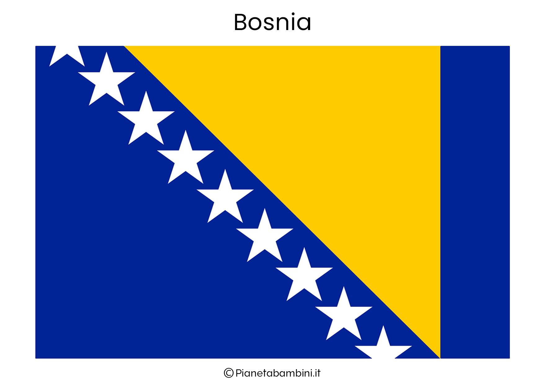 Bandiera della Bosnia da stampare