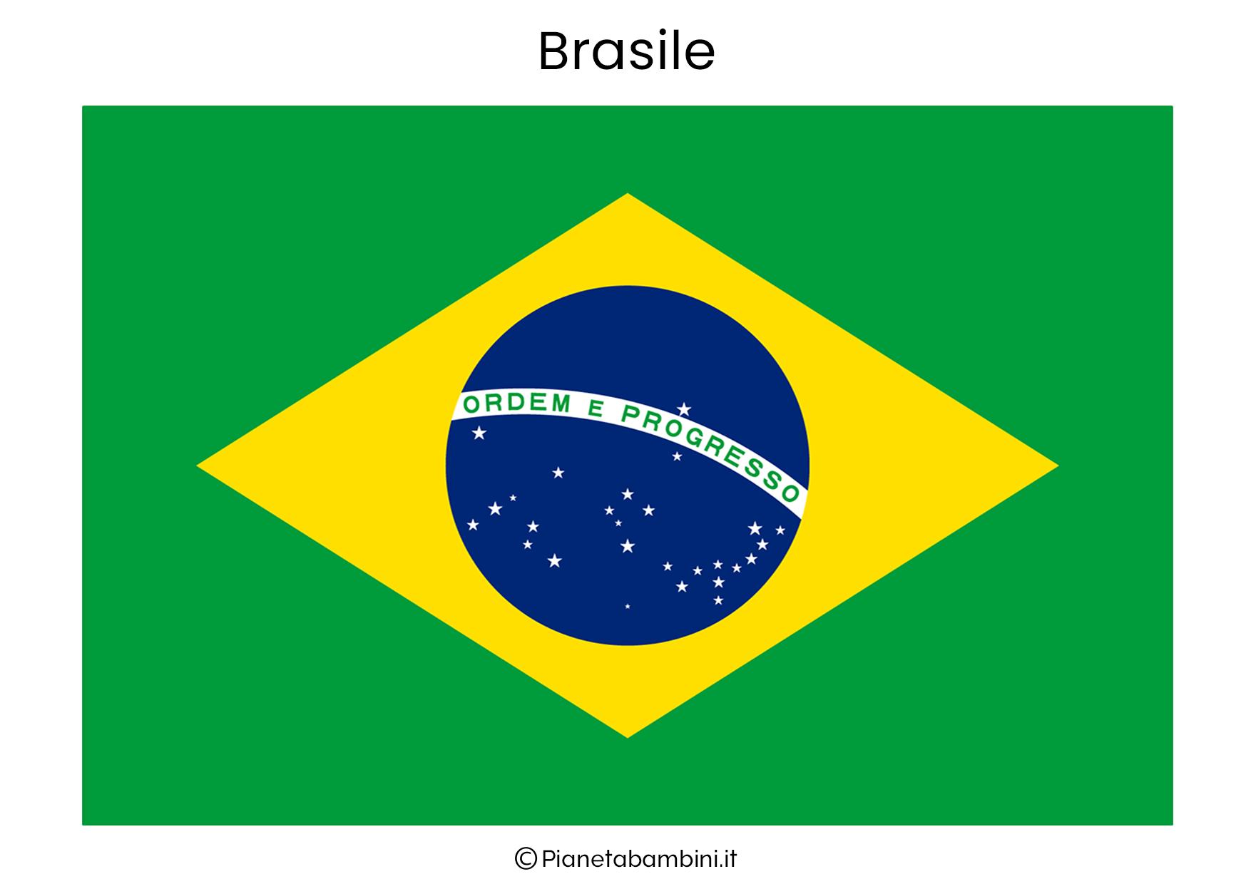 Bandiera del Brasile da stampare