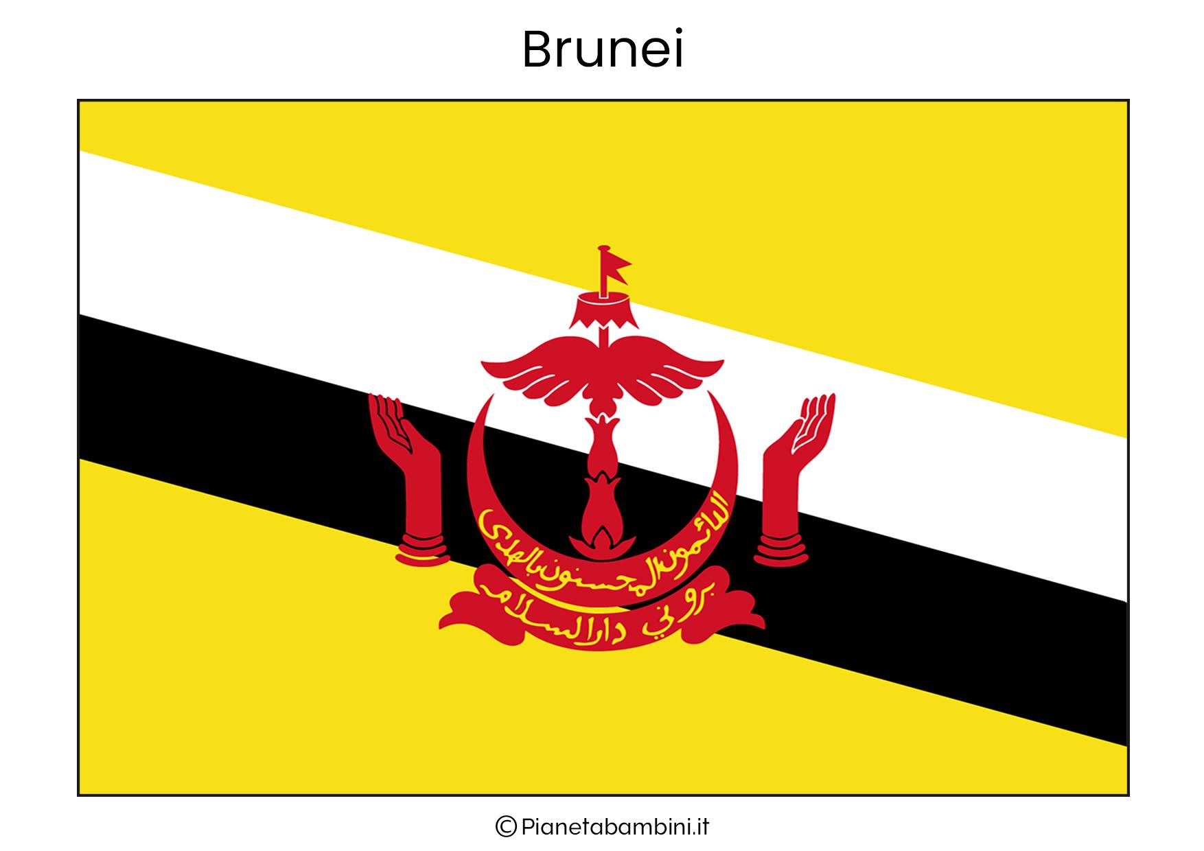 Bandiera del Brunei da stampare