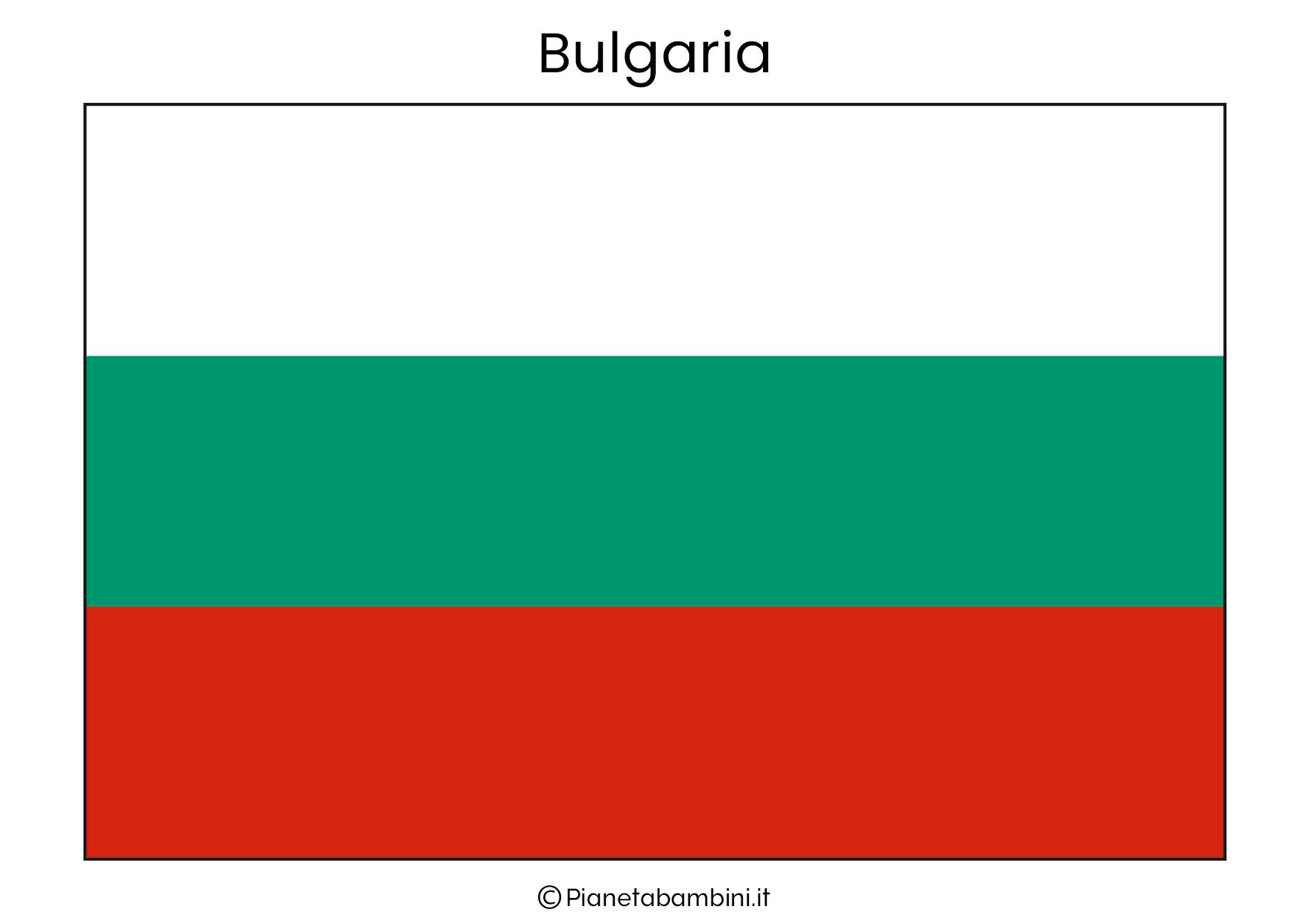 Bandiera della Bulgaria da stampare
