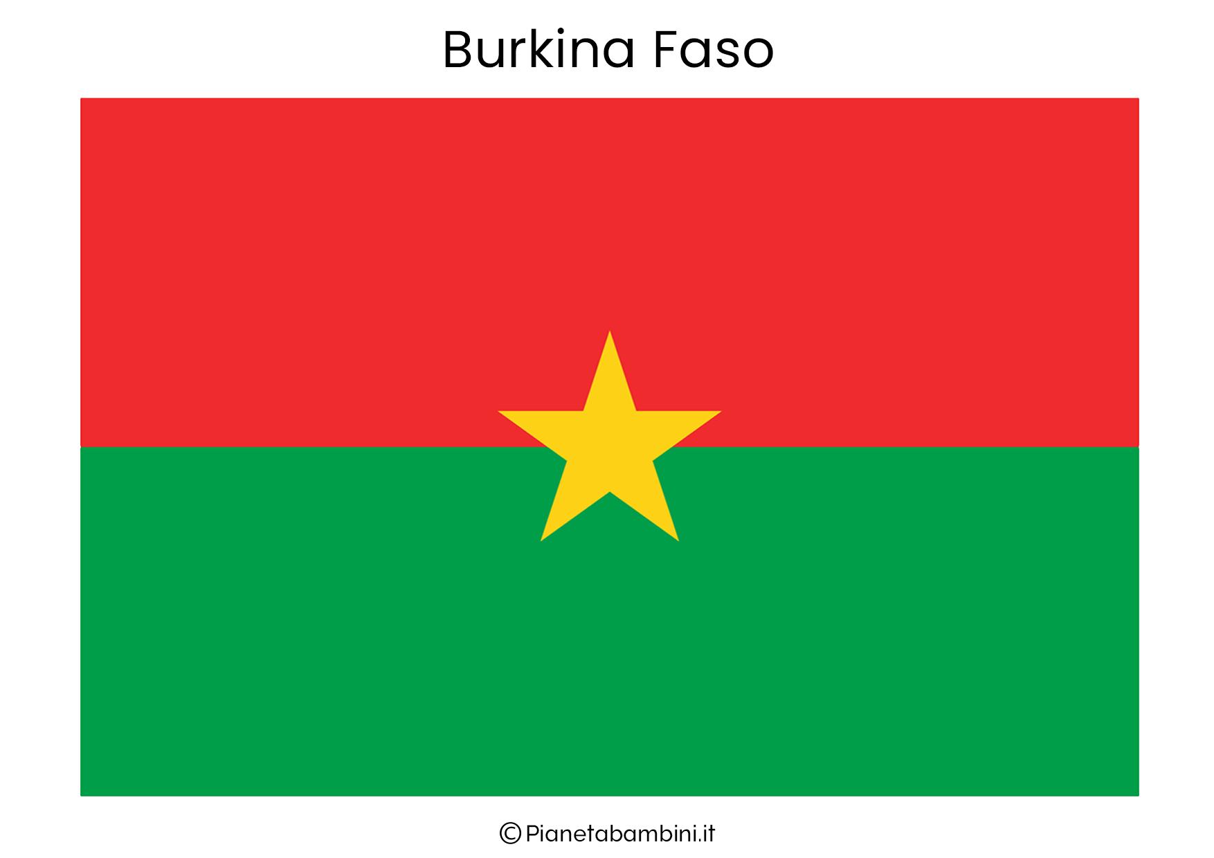 Bandiera del Burkina Faso da stampare