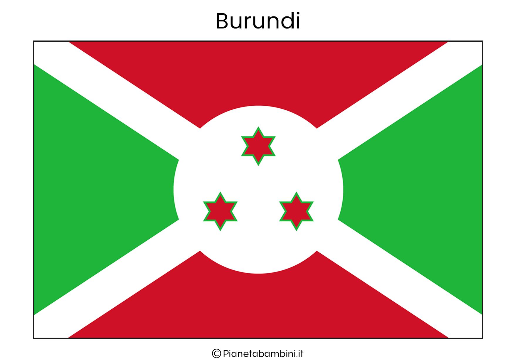Bandiera del Burundi da stampare