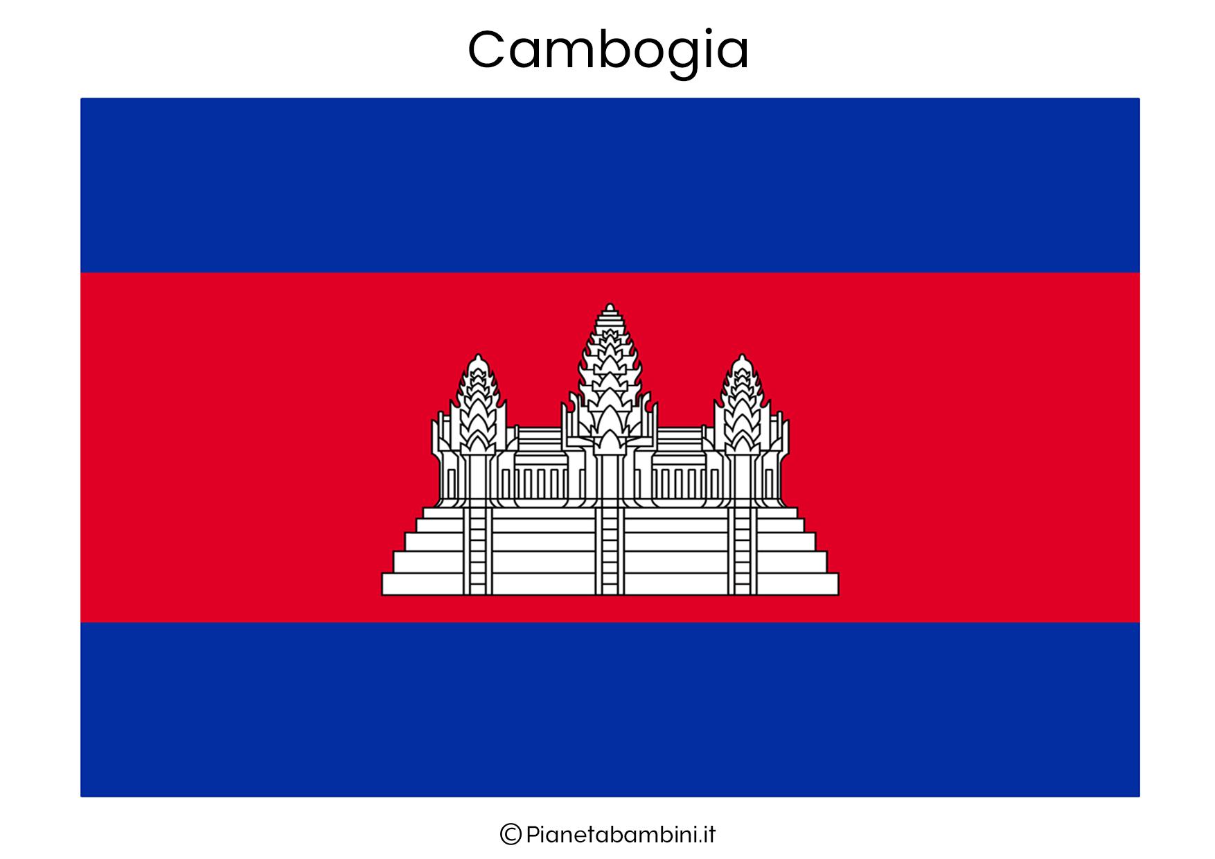 Bandiera della Cambogia da stampare