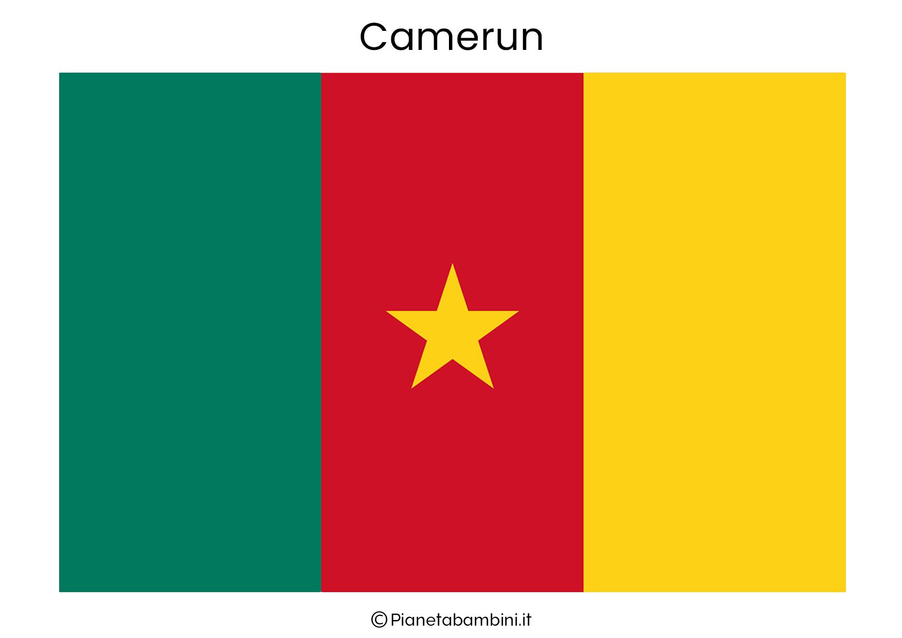 Bandiera del Camerun da stampare