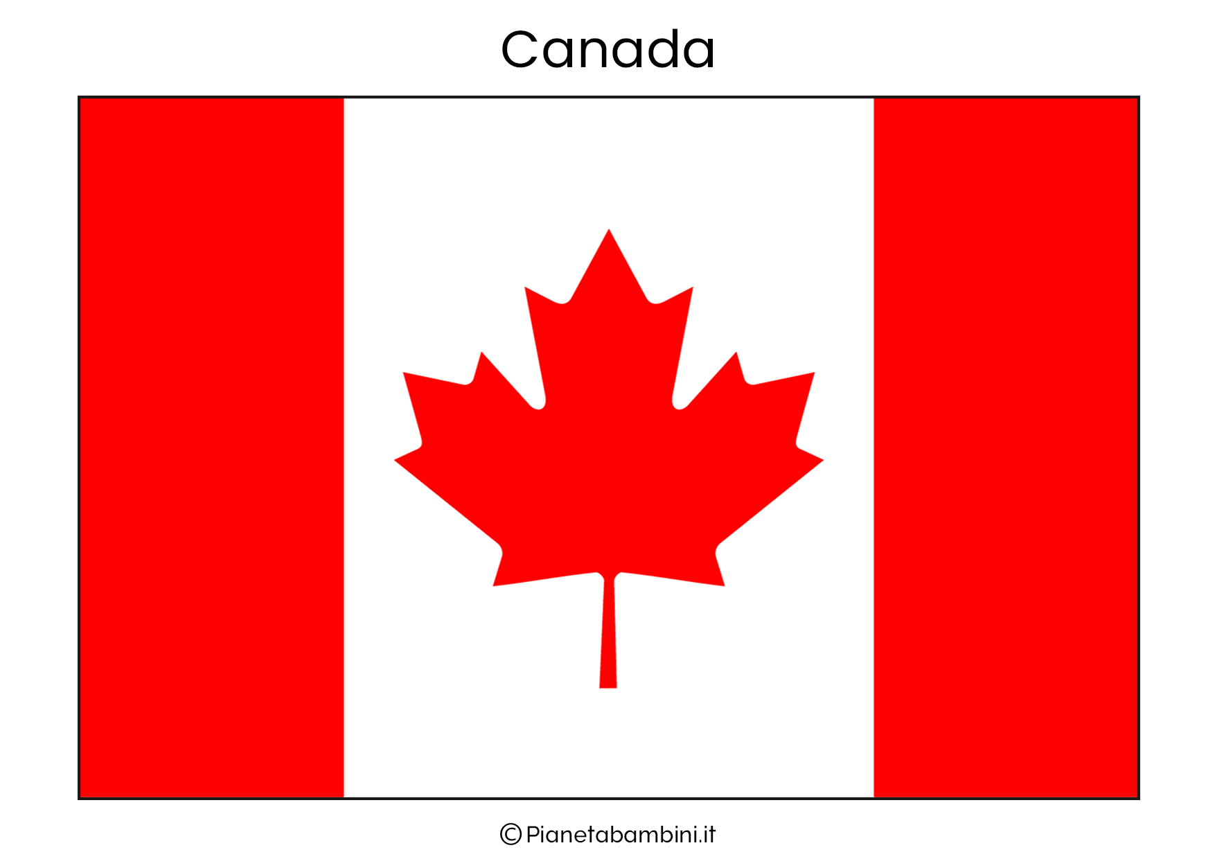 Bandiera del Canada da stampare
