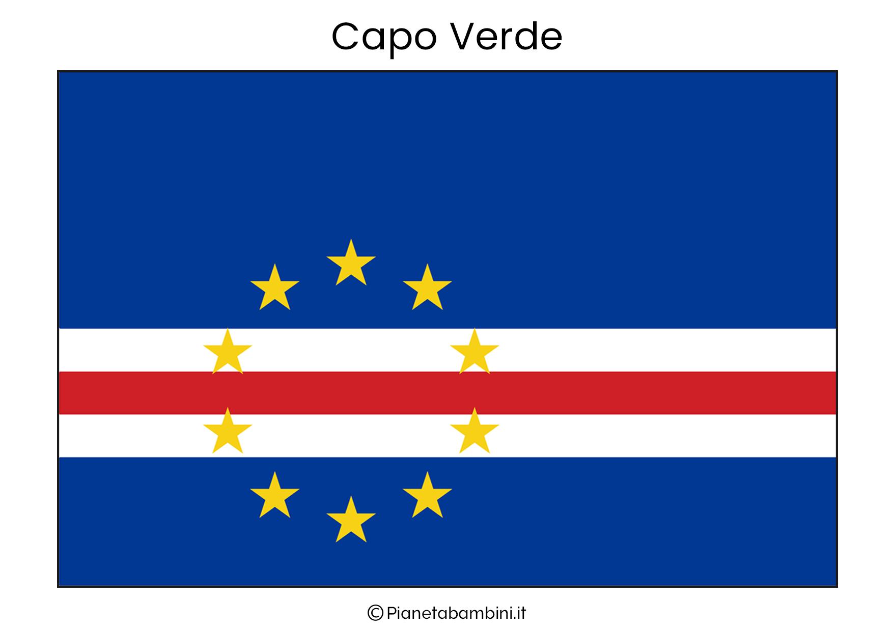 Bandiera di Capo Verde da stampare