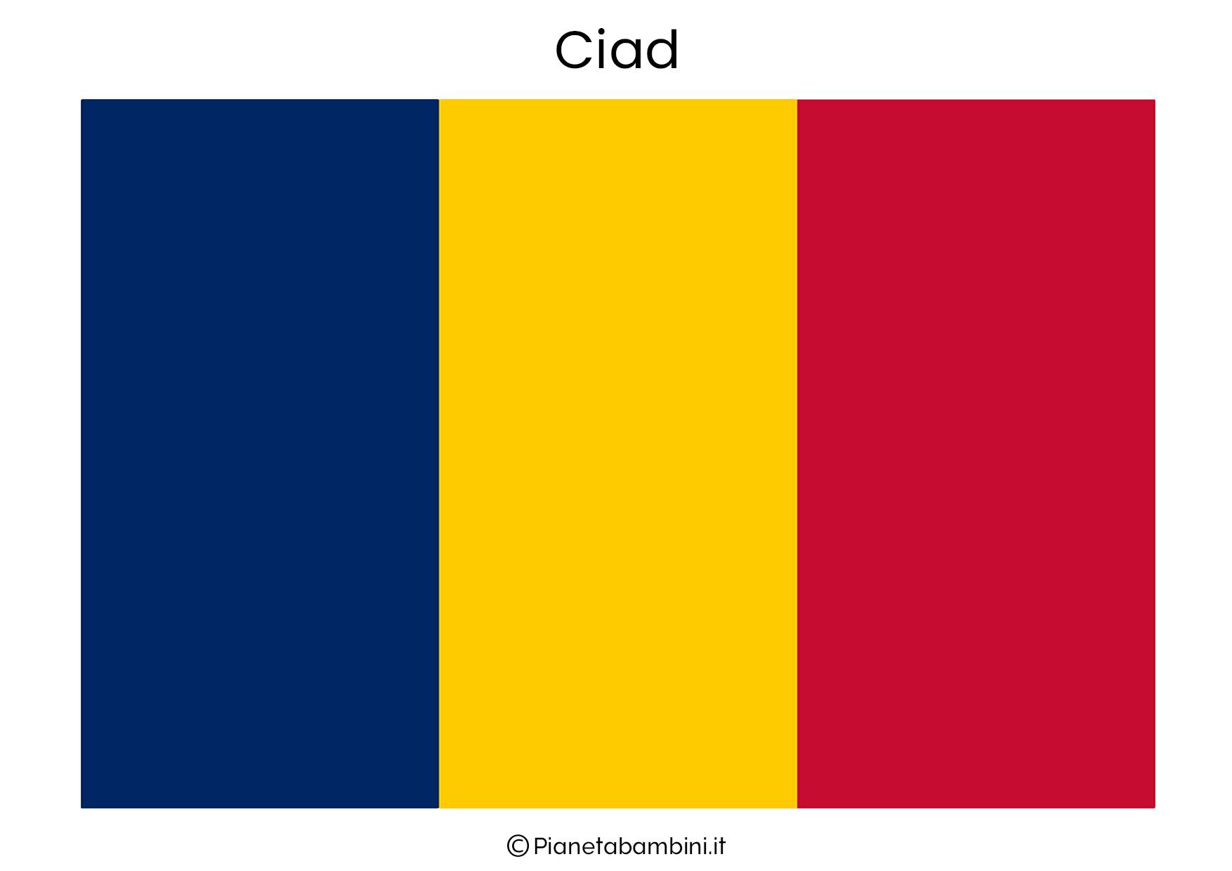 Bandiera del Ciad da stampare