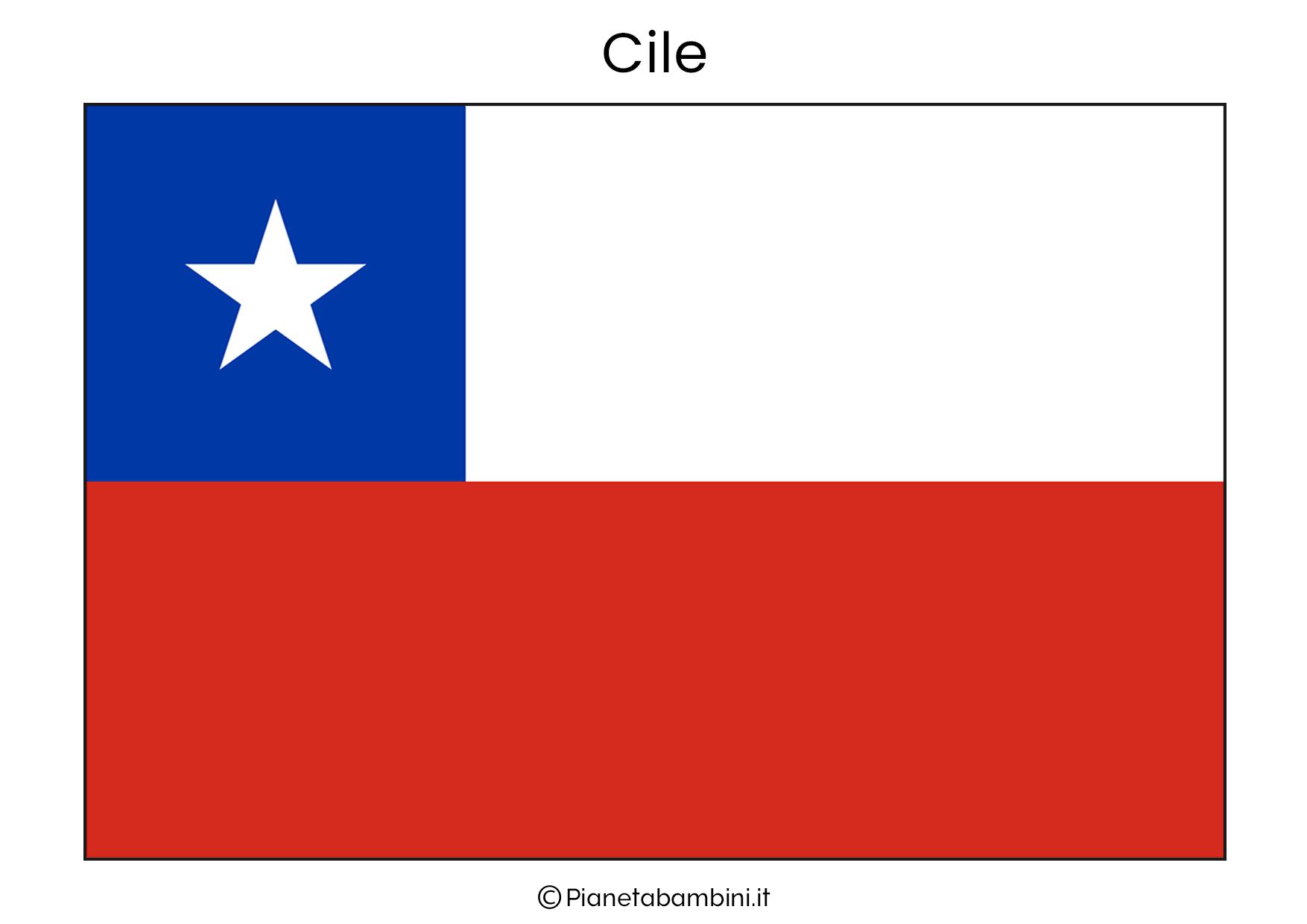 Bandiera del Cile da stampare