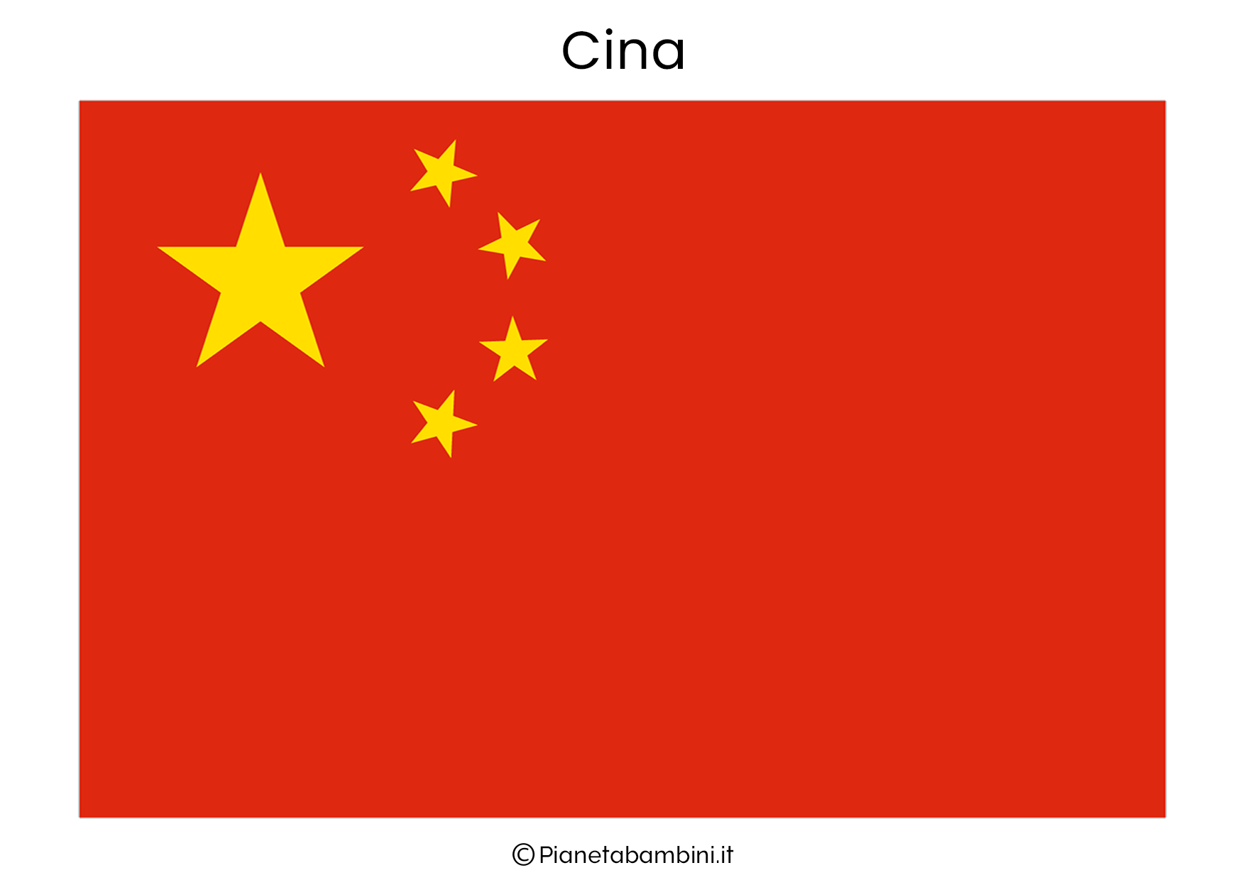 Bandiera della Cina da stampare