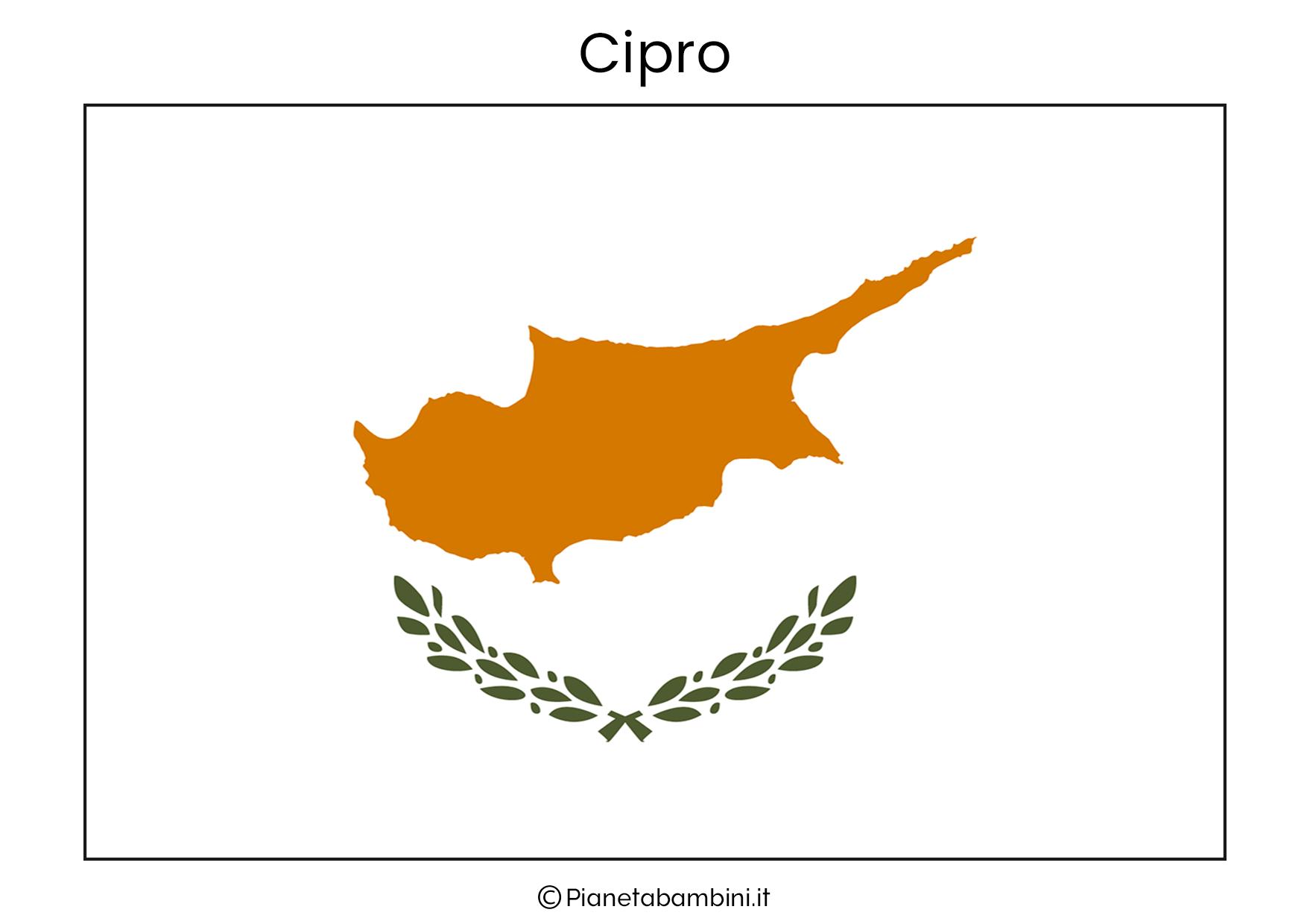 Bandiera di Cipro da stampare