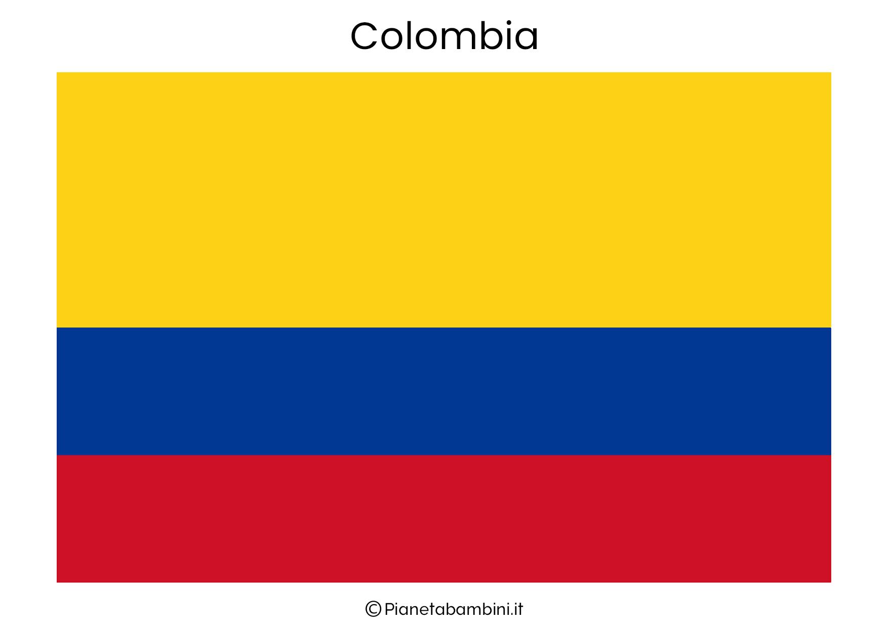 Bandiera della Colombia da stampare