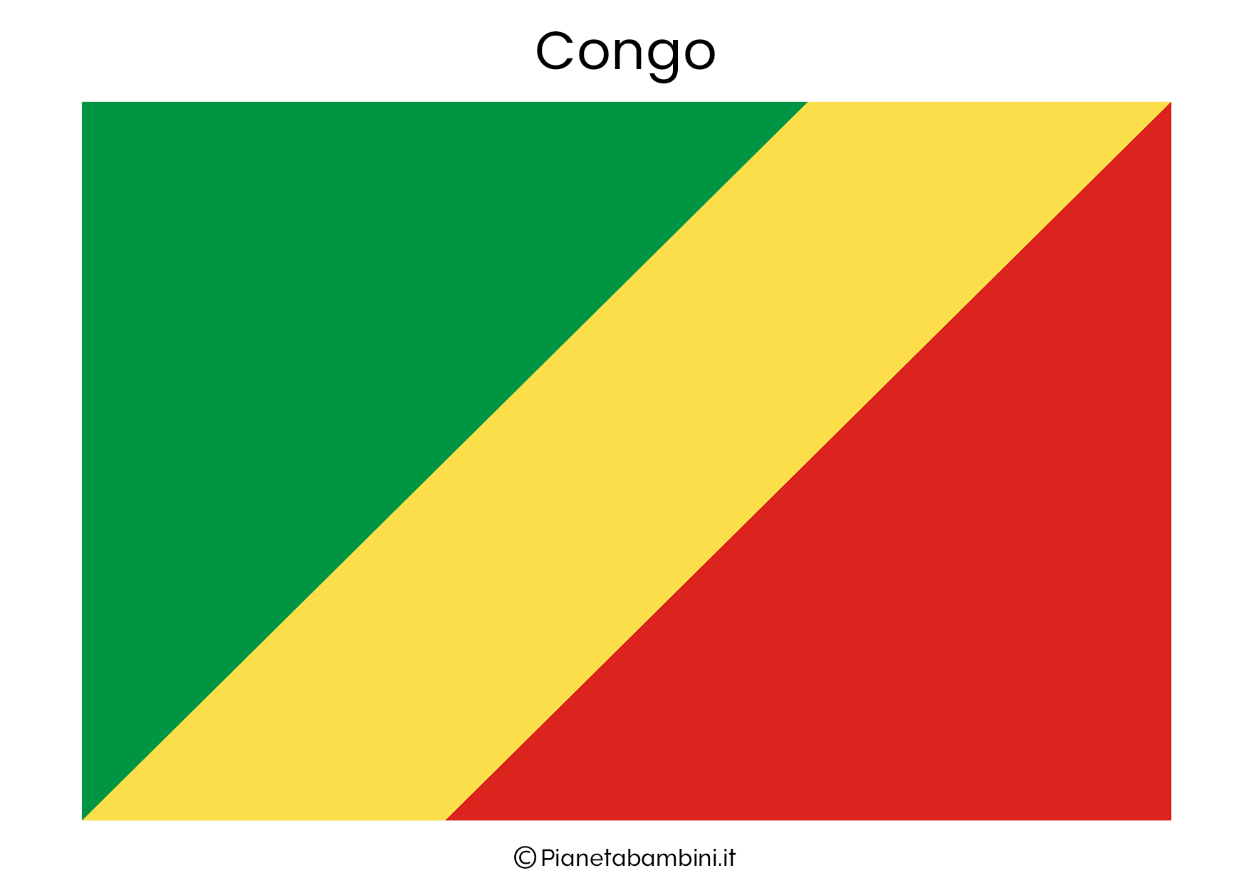 Bandiera del Congo da stampare