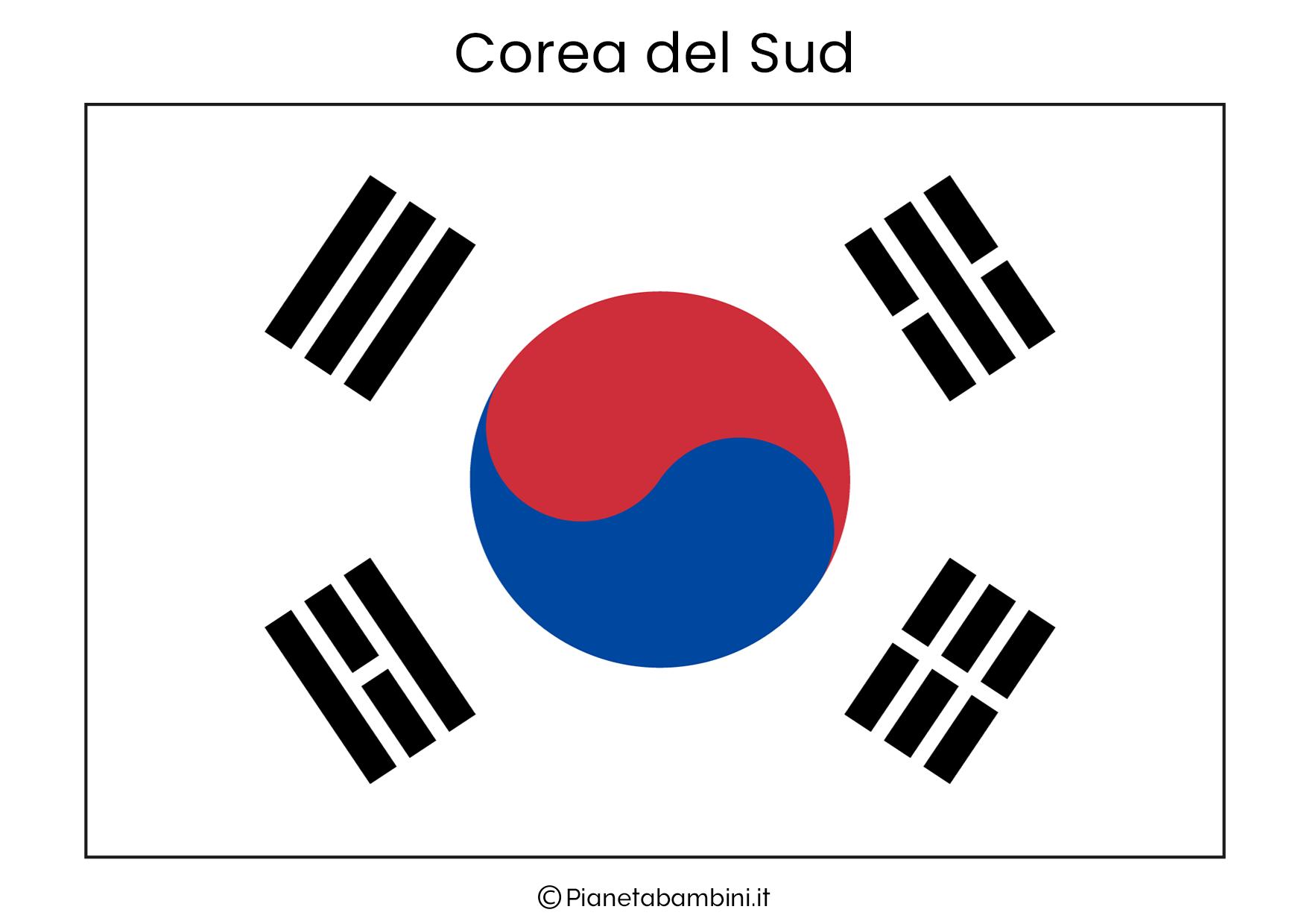 Bandiera della Corea Del Sud da stampare