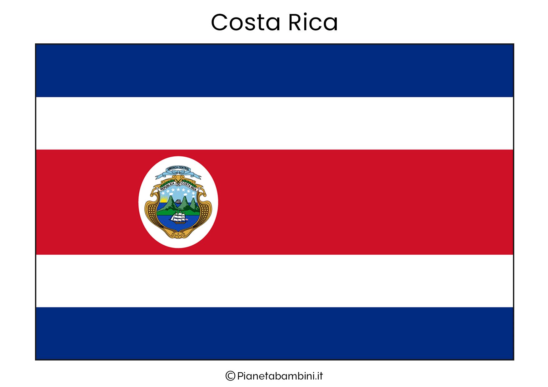 Bandiera della Costa Rica da stampare