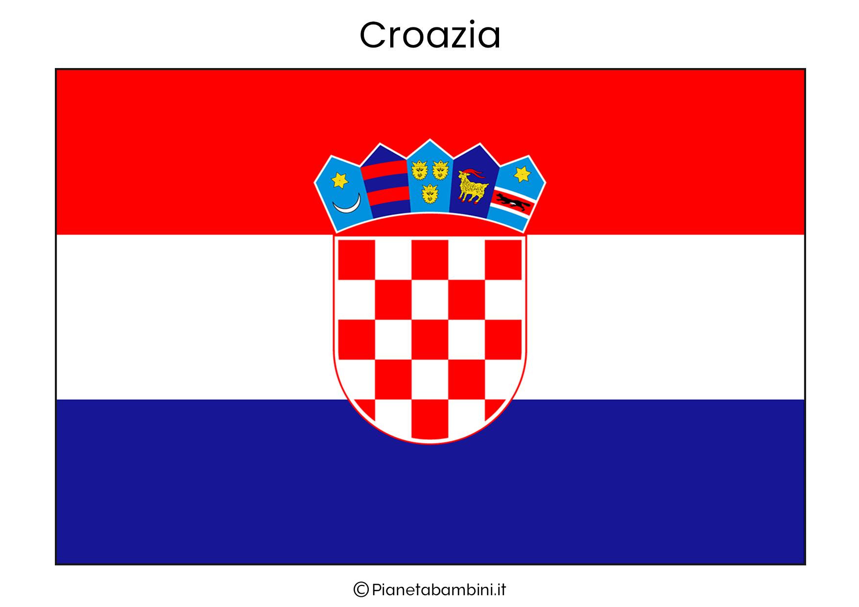 Bandiera della Croazia da stampare