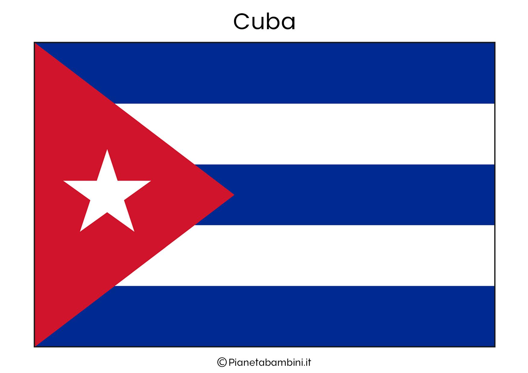 Bandiera di Cuba da stampare