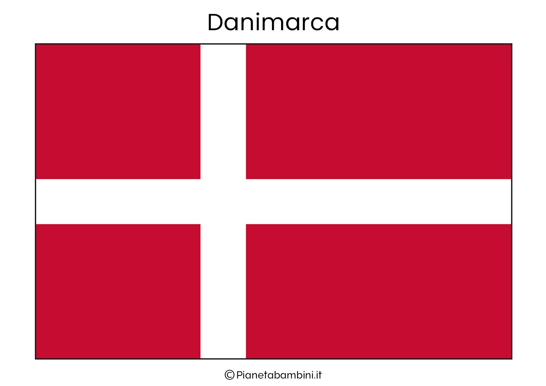 Bandiera della Danimarca da stampare
