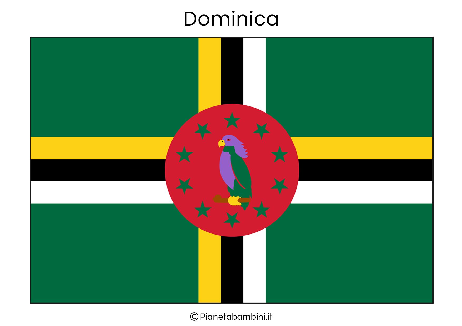 Bandiera di Dominica da stampare