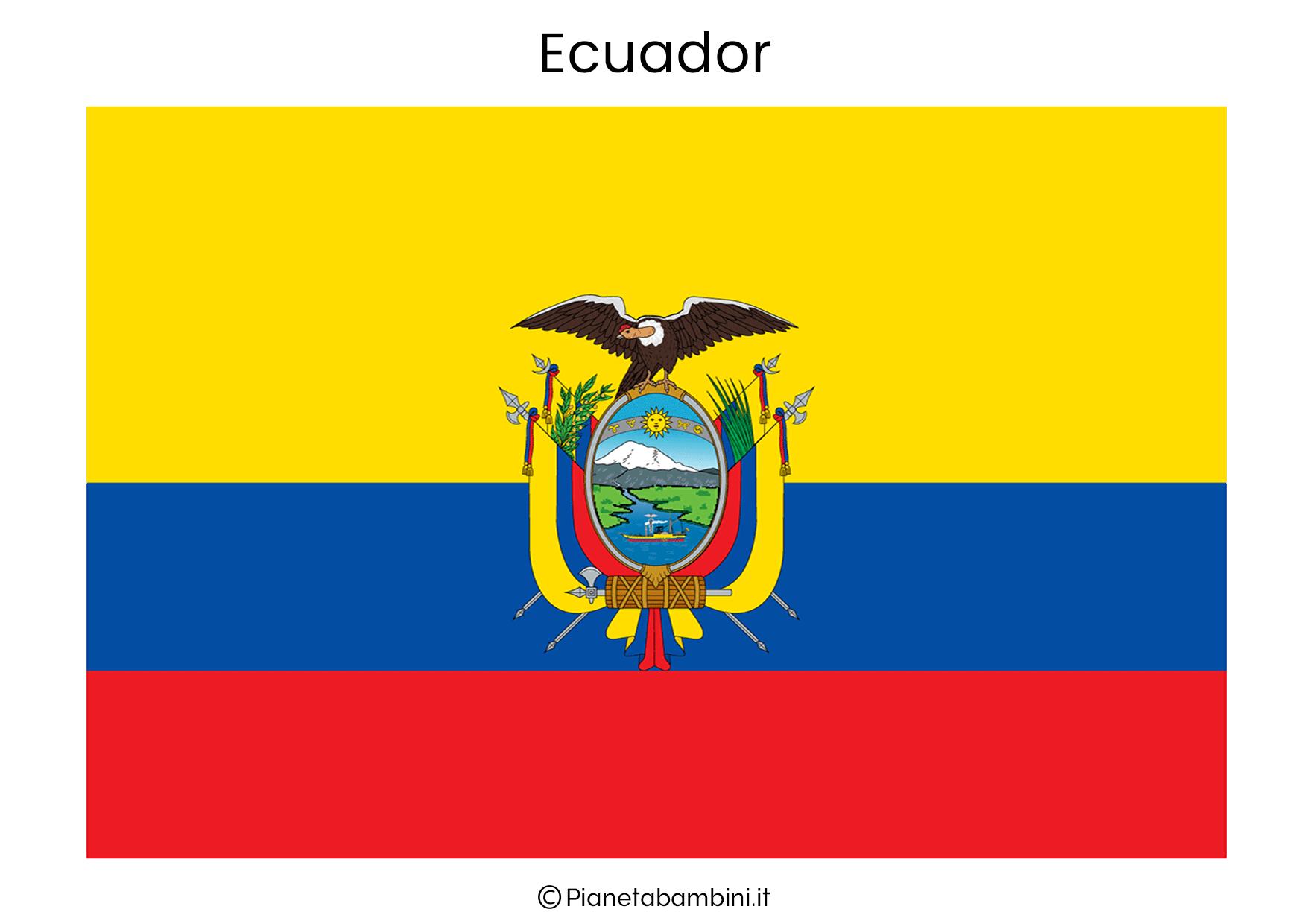 Bandiera dell'Ecuador da stampare
