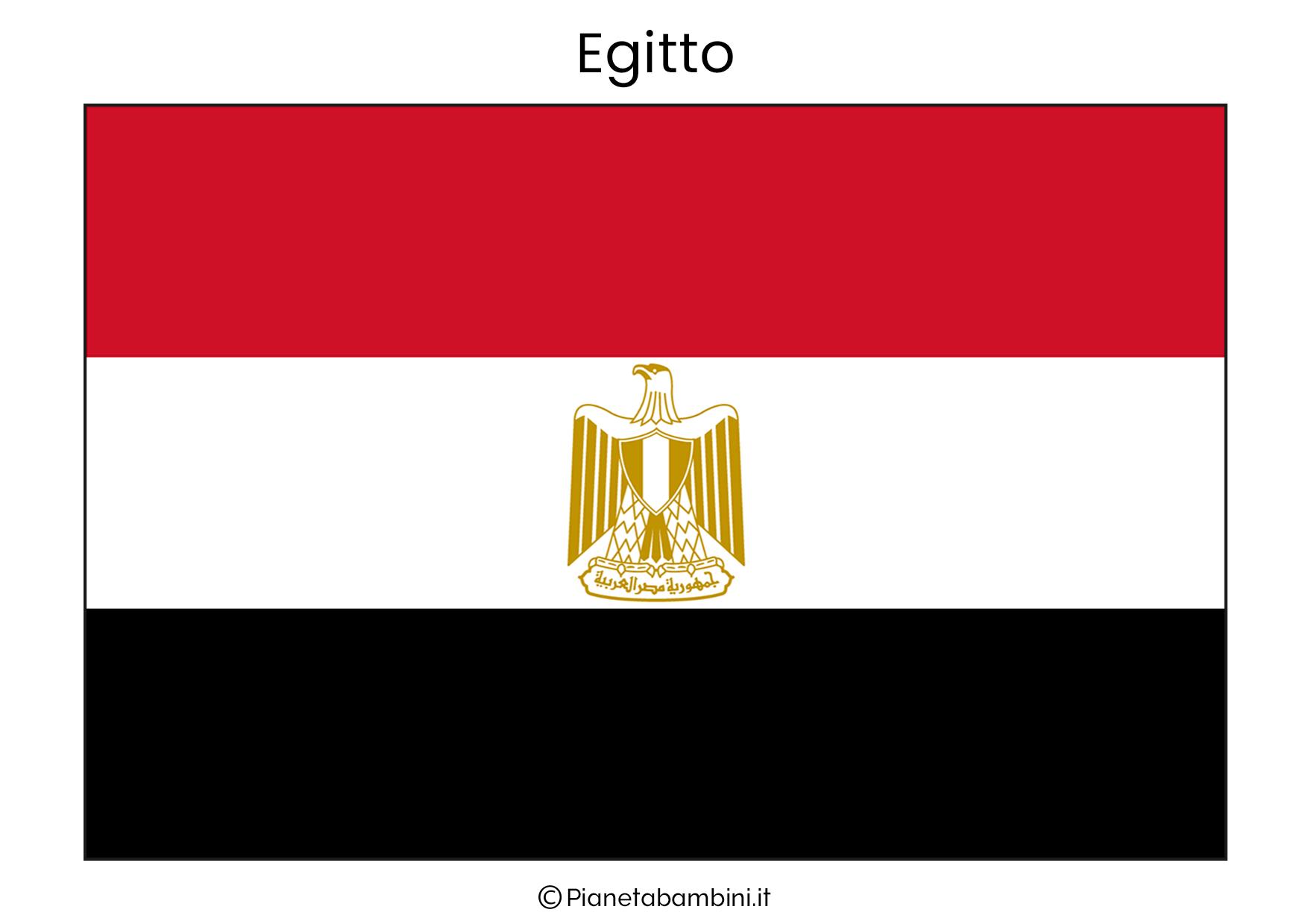 Bandiera dell'Egitto da stampare