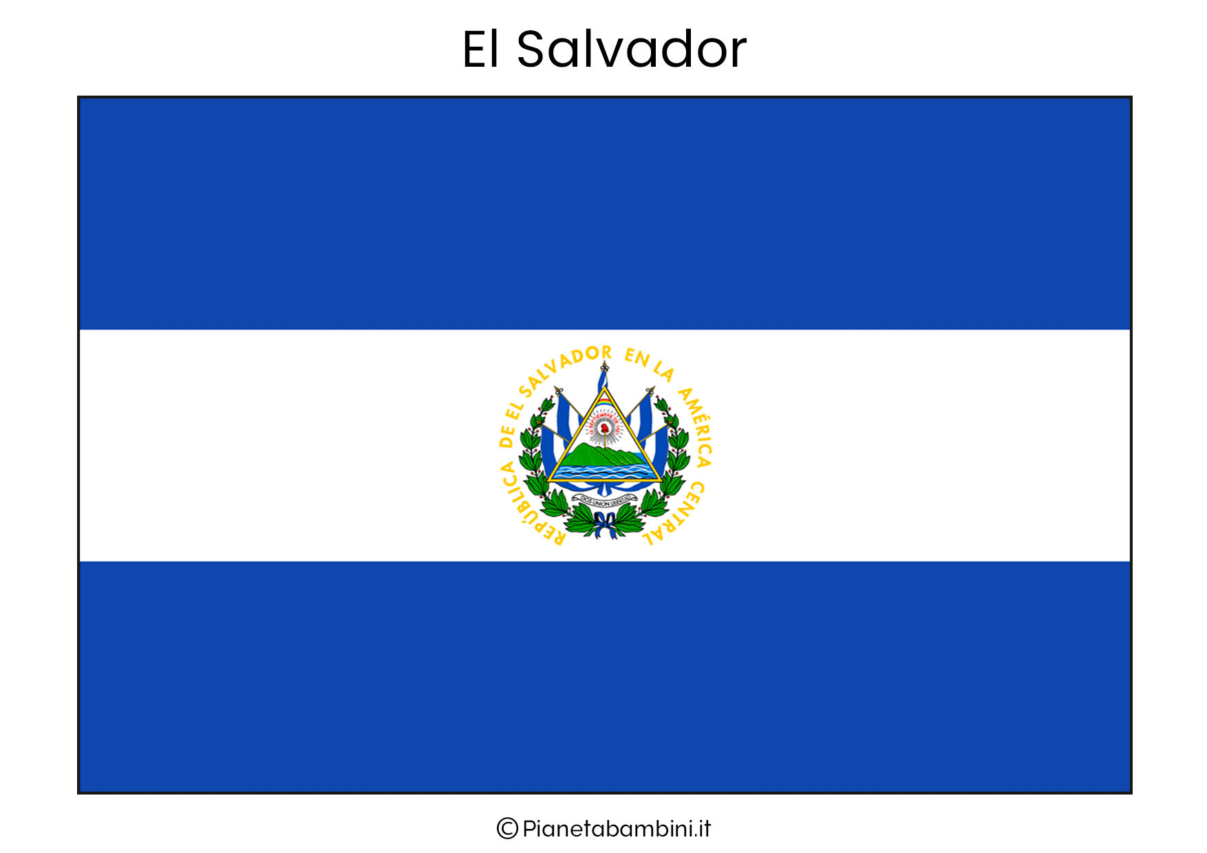 Bandiera di El Salvador da stampare