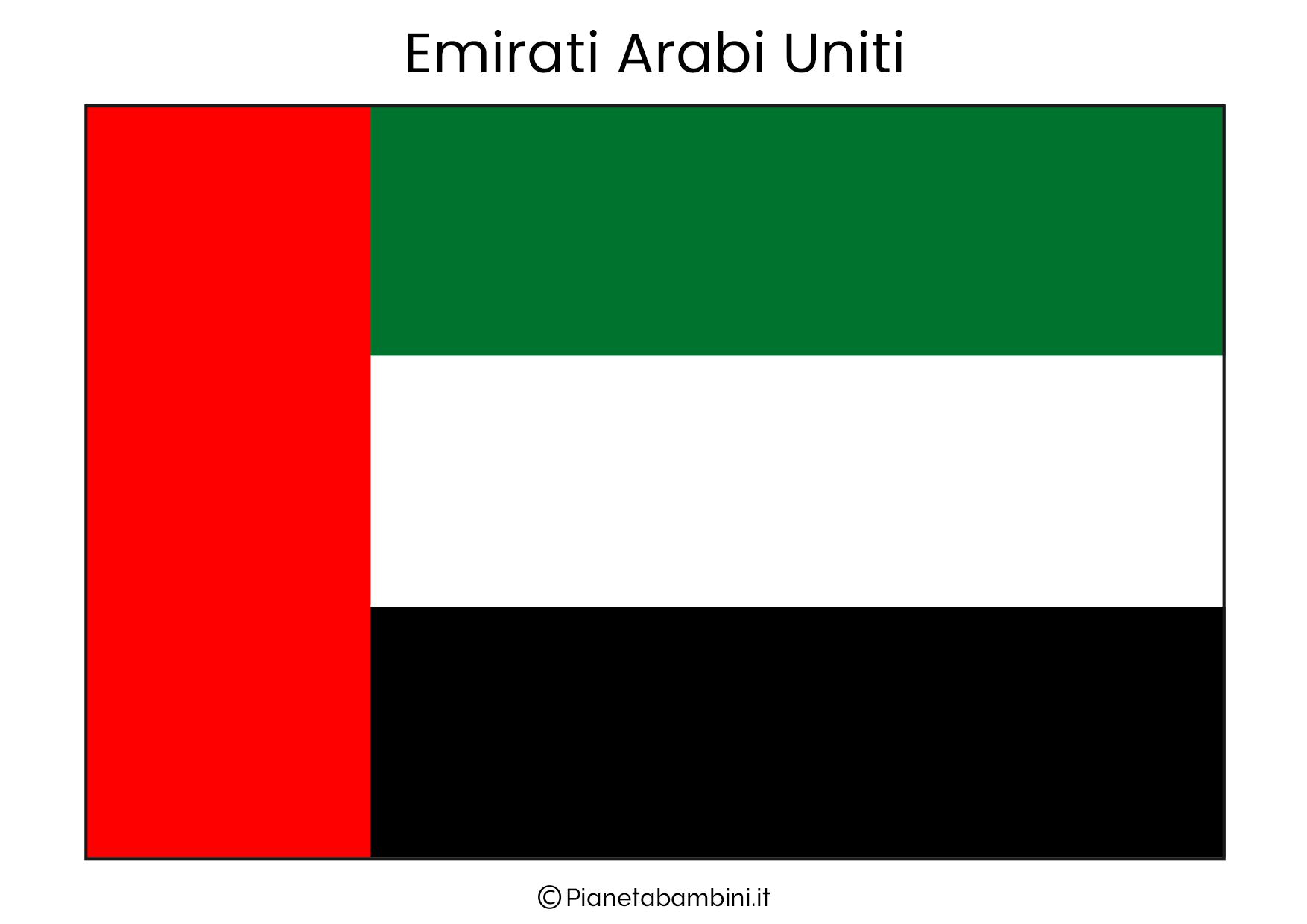 Bandiera degli Emirati Arabi Uniti da stampare