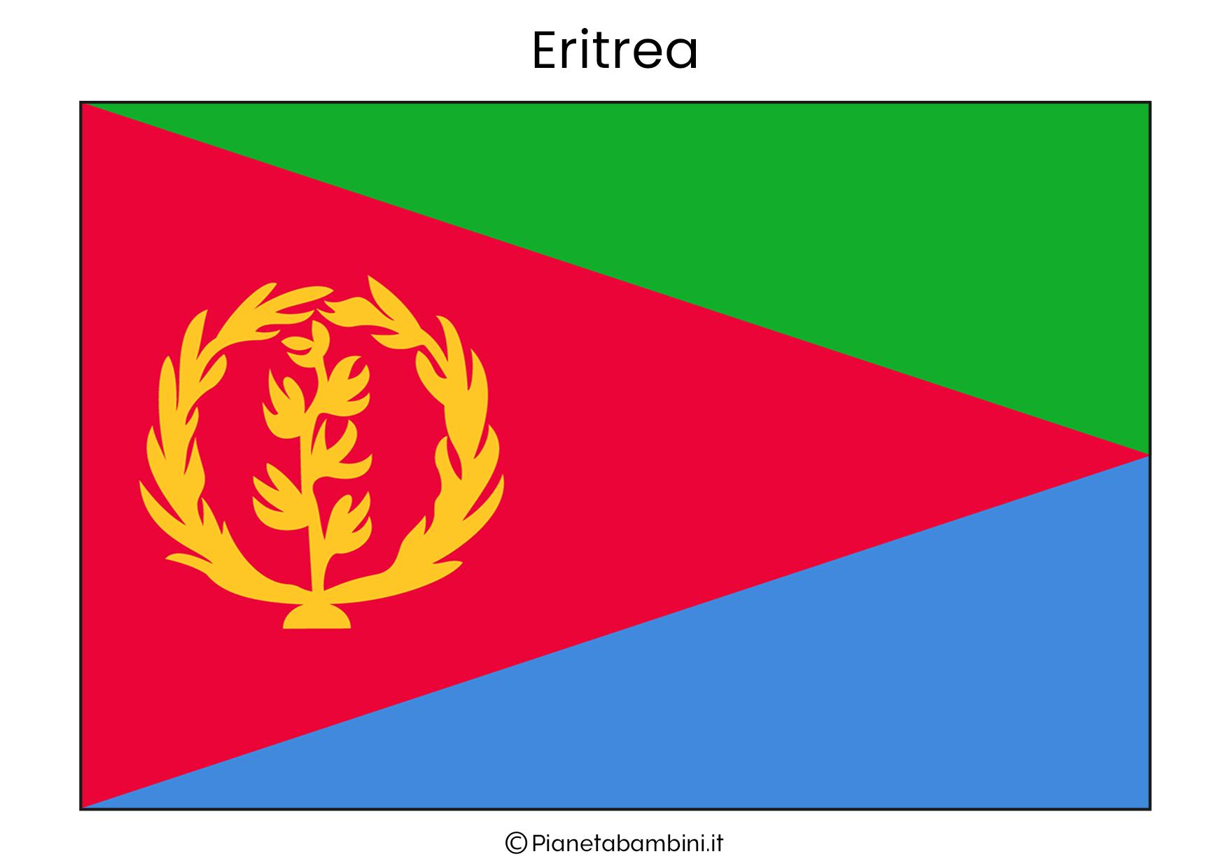 Bandiera dell'Eritrea da stampare