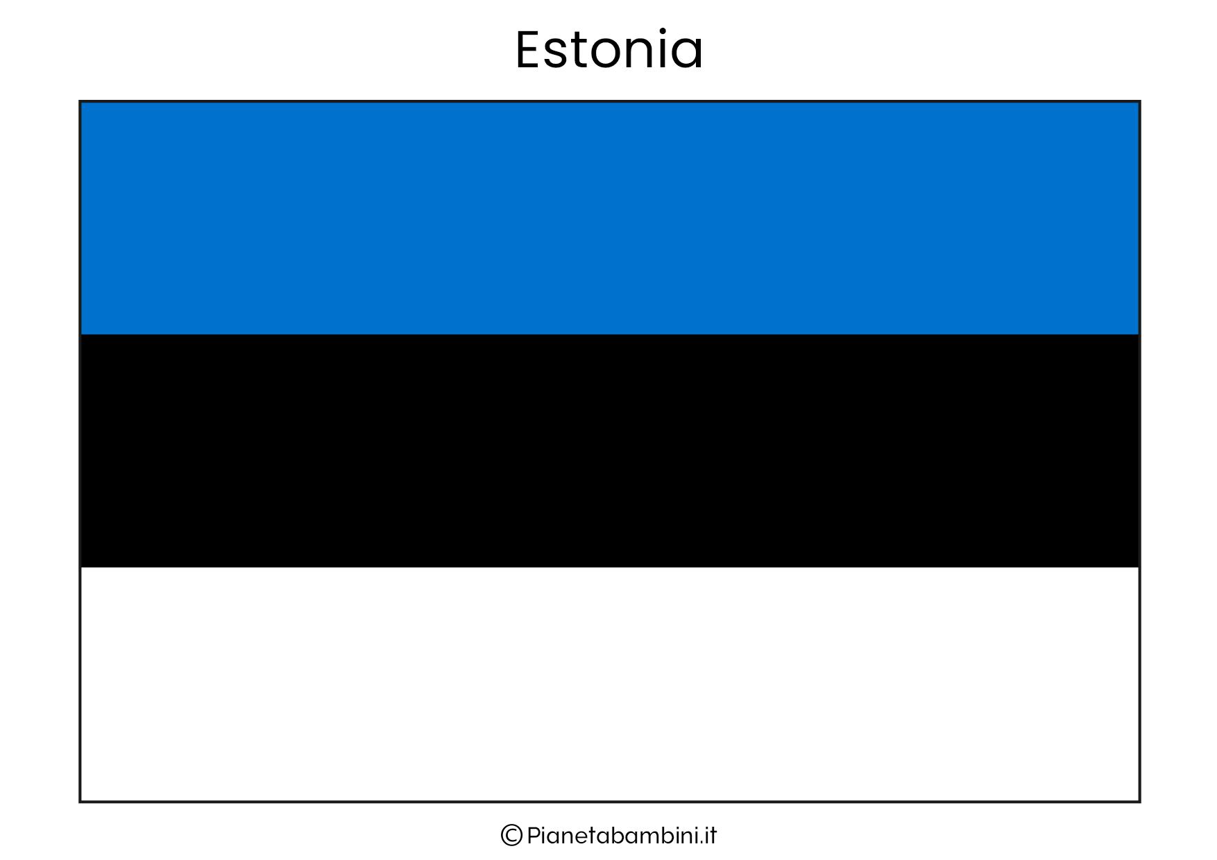 Bandiera dell'Estonia da stampare