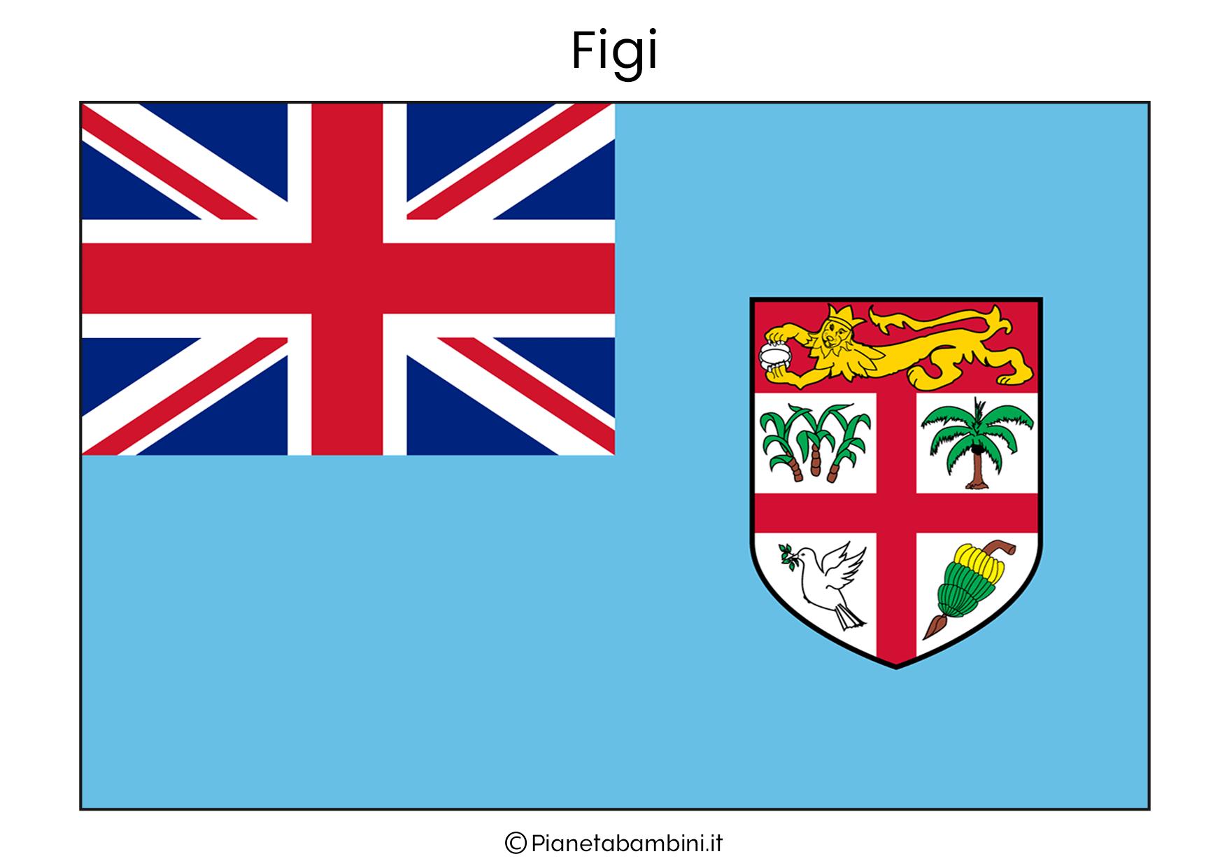 Bandiera delle Figi da stampare
