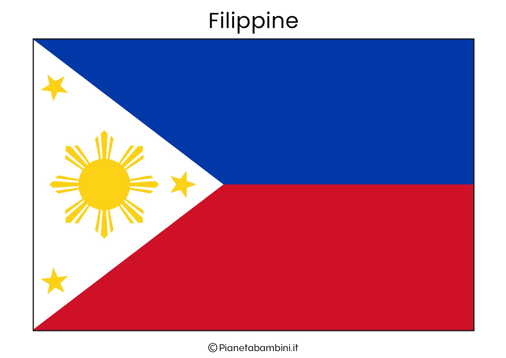 Bandiera delle Filippine da stampare