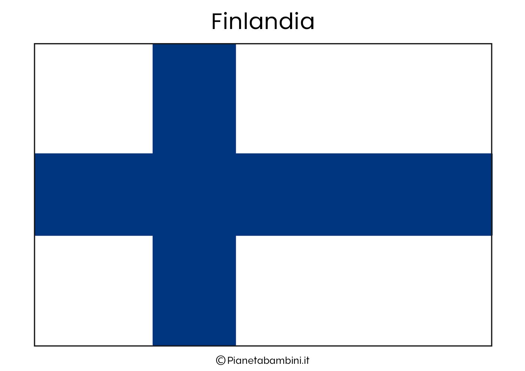 Bandiera della Finlandia da stampare