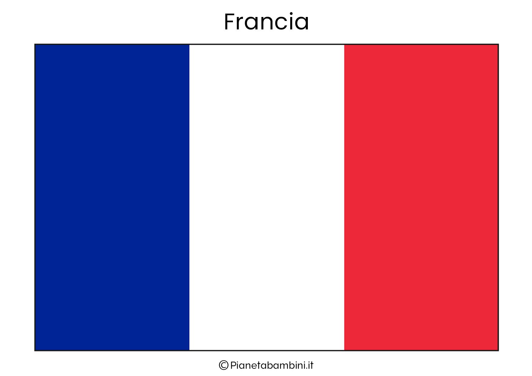 Bandiera della Francia da stampare