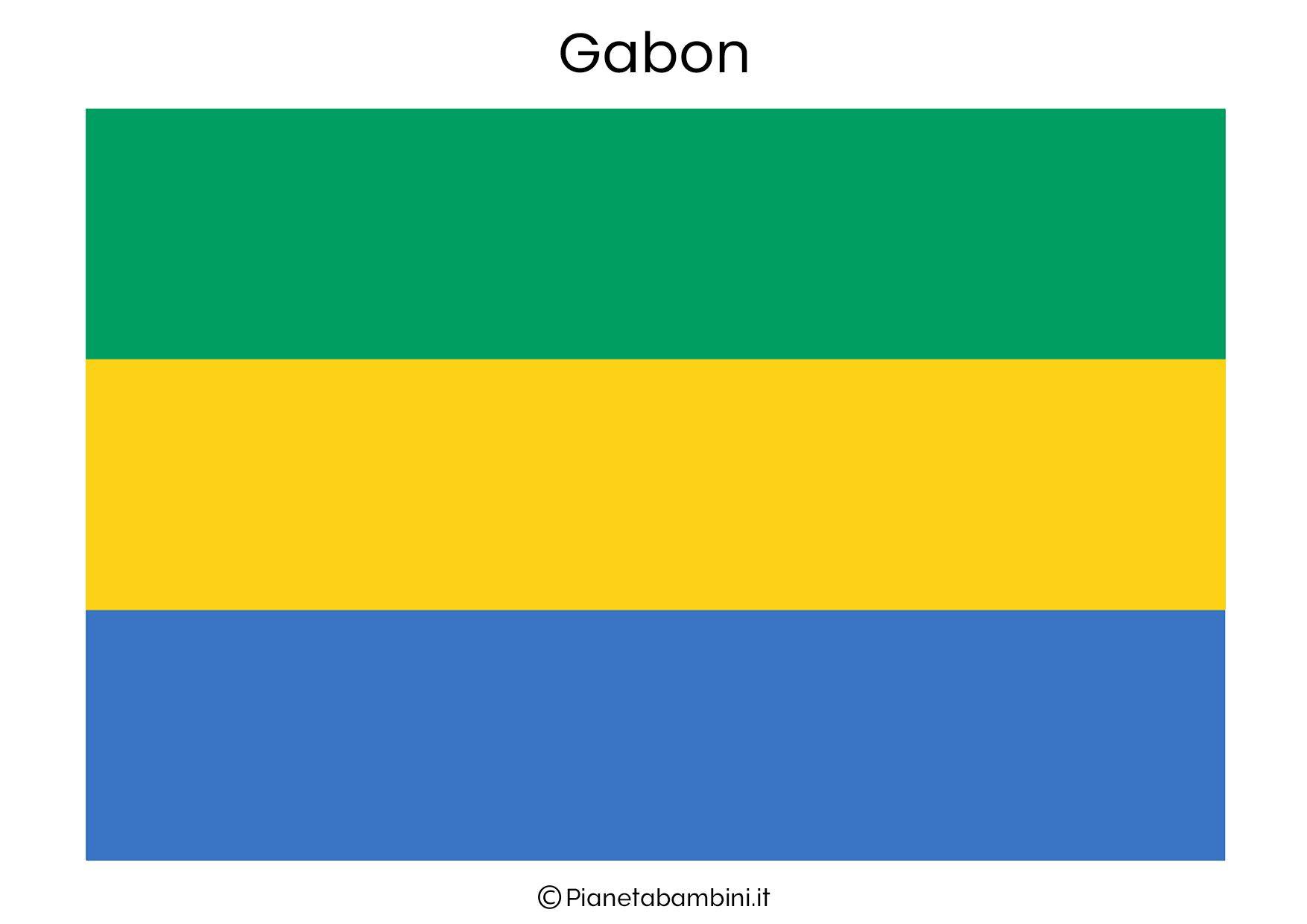 Bandiera del Gabon da stampare