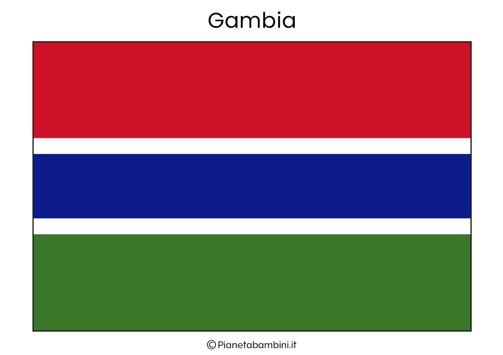 Bandiera del Gambia da stampare