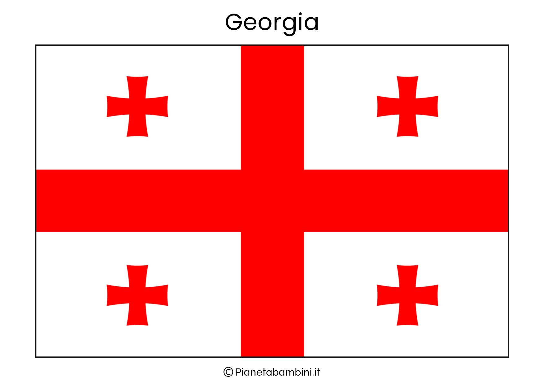 Bandiera della Georgia da stampare